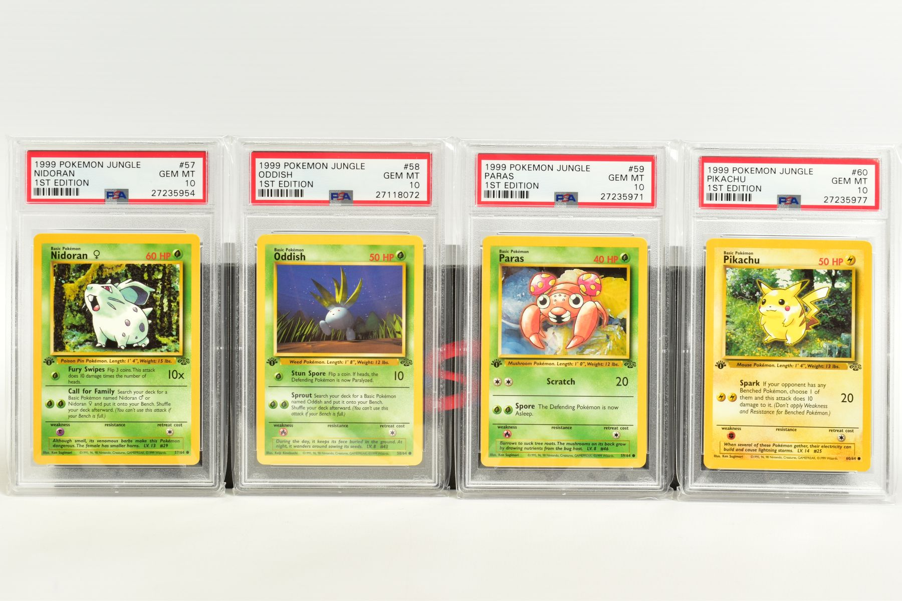 A QUANTITY OF PSA GRADED POKEMON 1ST EDITION JUNGLE SET CARDS, all are graded GEM MINT 10 and are - Image 12 of 13