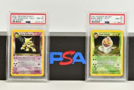A QUANTITY OF PSA GRADED POKEMON 1ST EDITION TEAM ROCKET SET CARDS, assorted cards between numbers 1