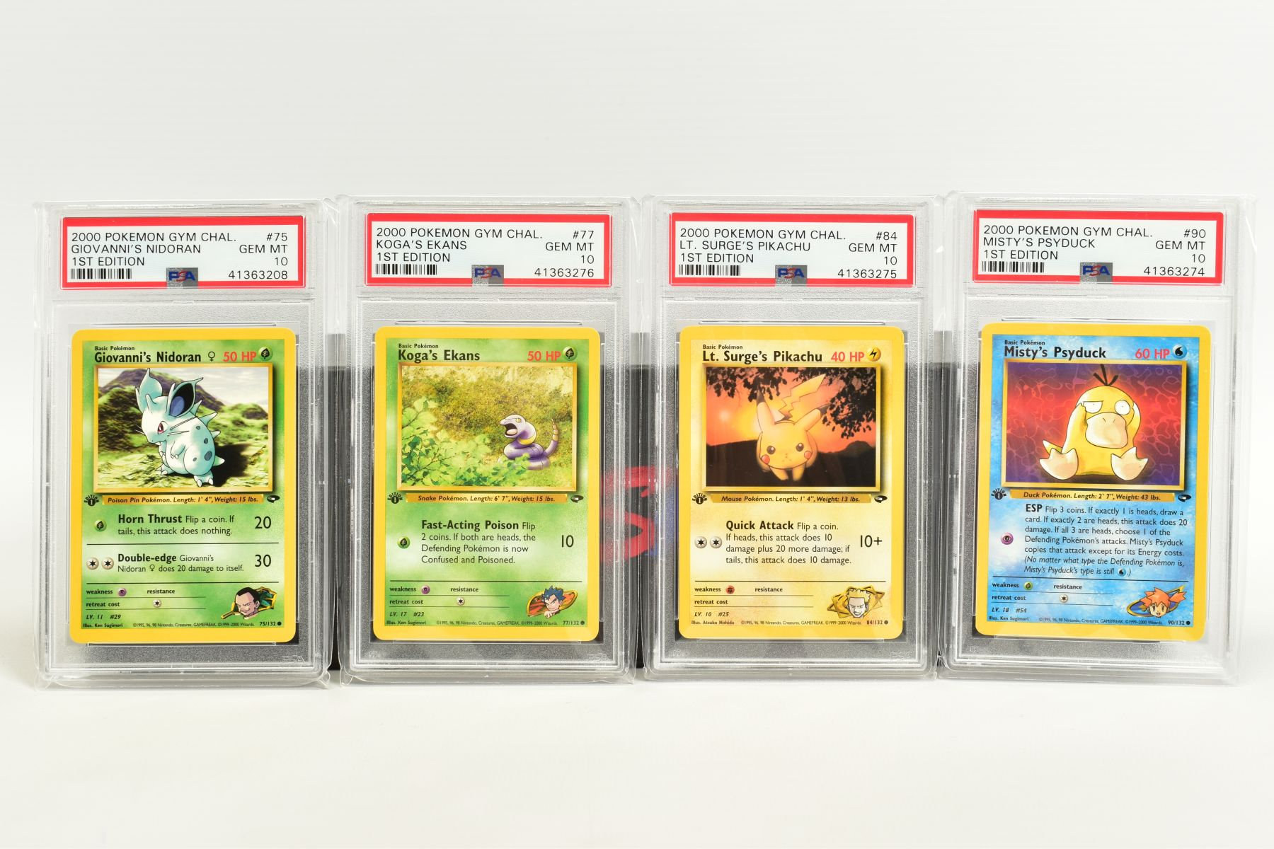 A QUANTITY OF PSA GRADED POKEMON 1ST EDITION GYM HEROES AND GYM CHALLENGE SET CARDS, all are - Image 6 of 12