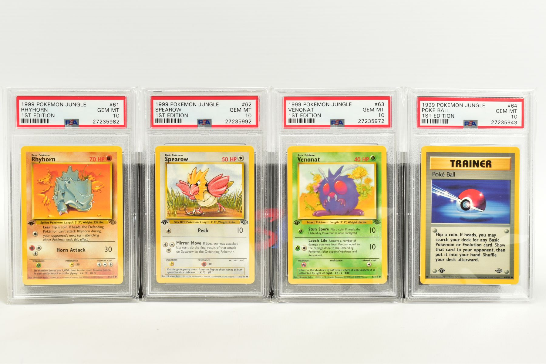 A QUANTITY OF PSA GRADED POKEMON 1ST EDITION JUNGLE SET CARDS, all are graded GEM MINT 10 and are - Image 13 of 13