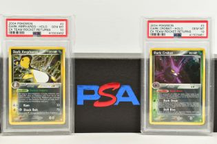 A QUANTITY OF PSA GRADED POKEMON EX TEAM ROCKET RETURNS AND EX RUBY & SAPPHIRE SET CARDS, all are