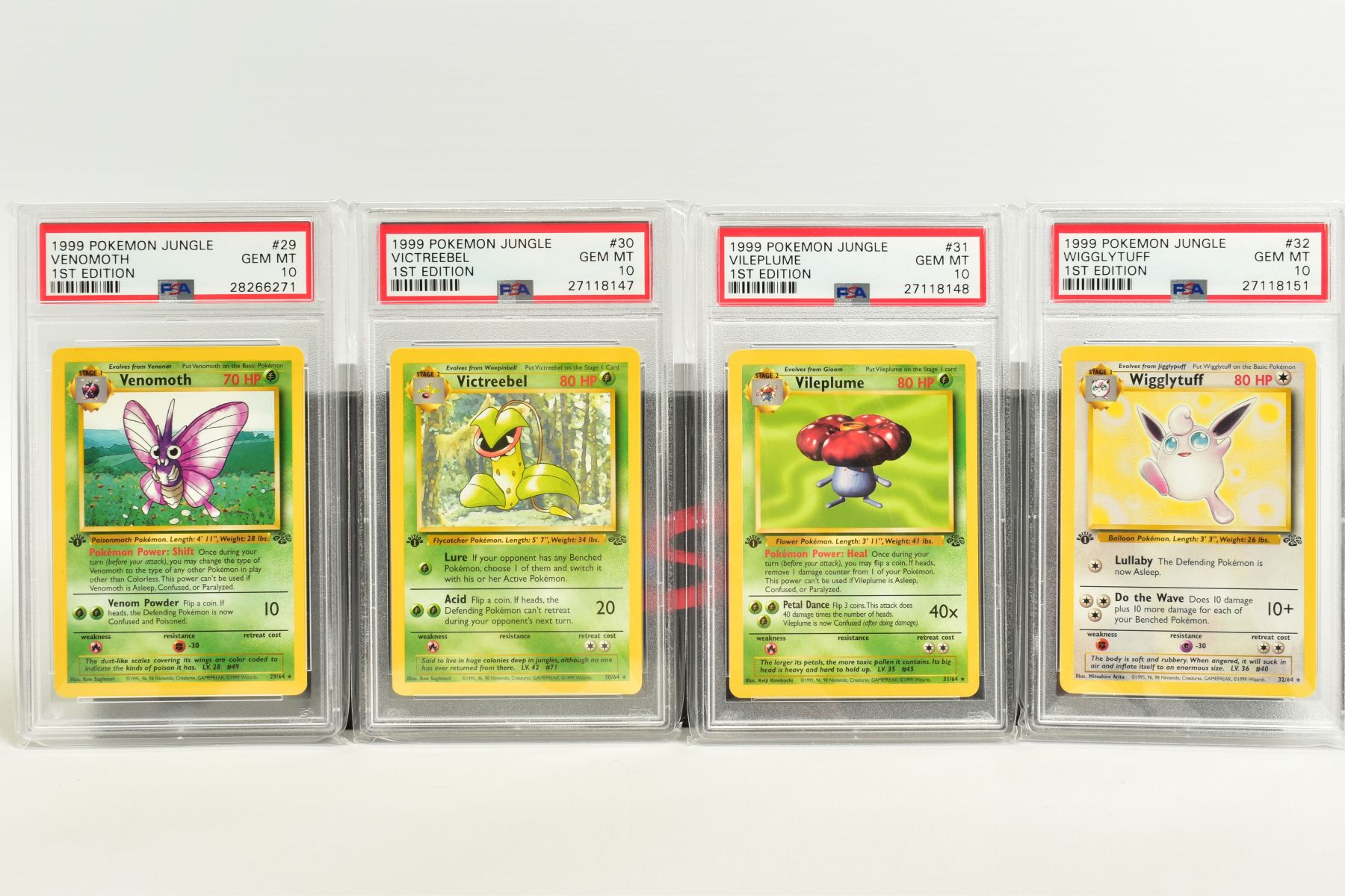A QUANTITY OF PSA GRADED POKEMON 1ST EDITION JUNGLE SET CARDS, all are graded GEM MINT 10 and are - Image 5 of 13