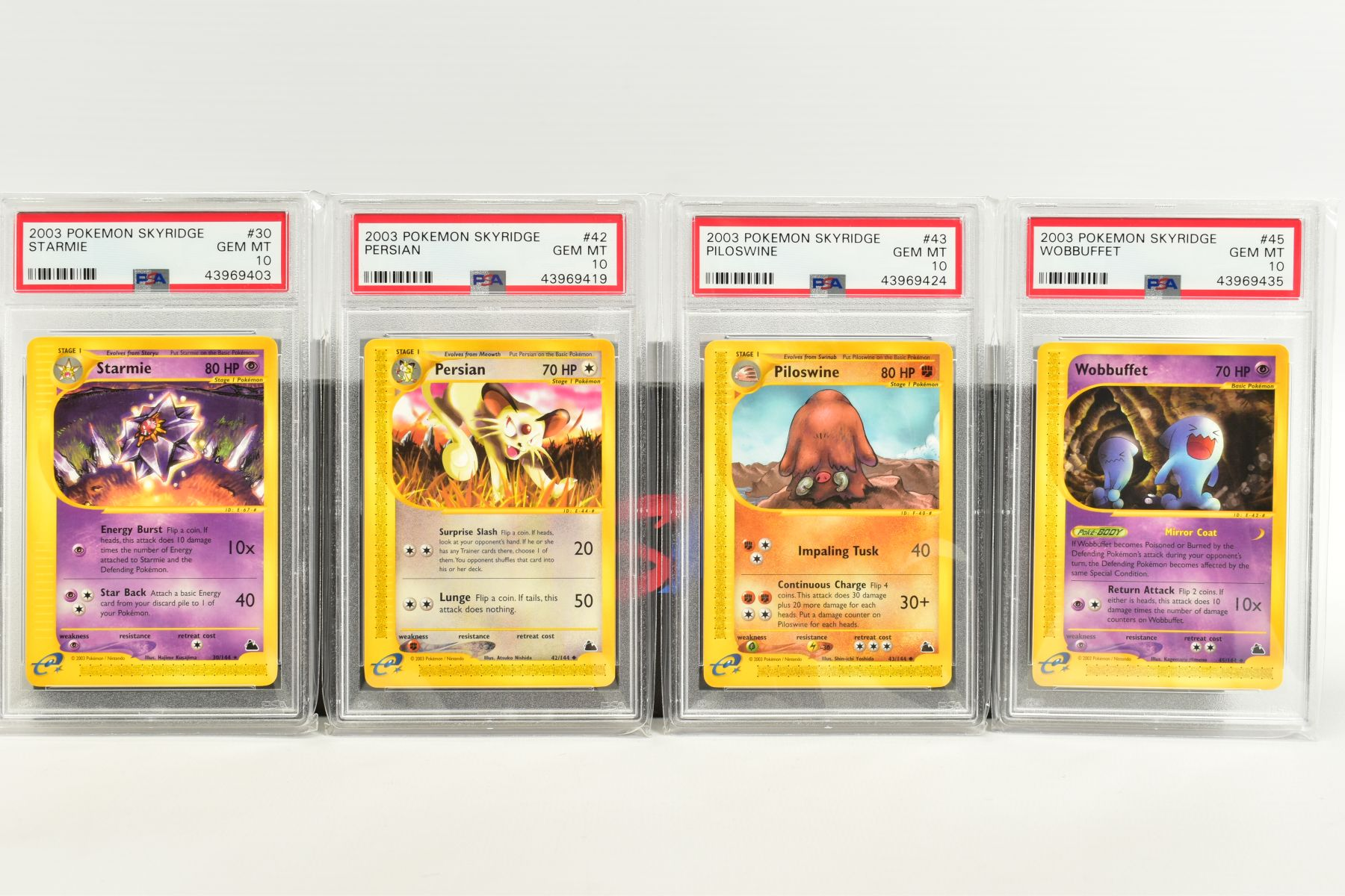 A QUANTITY OF PSA GRADED POKEMON SKYRIDGE SET CARDS, all are graded GEM MINT 10 and are sealed in - Image 2 of 9