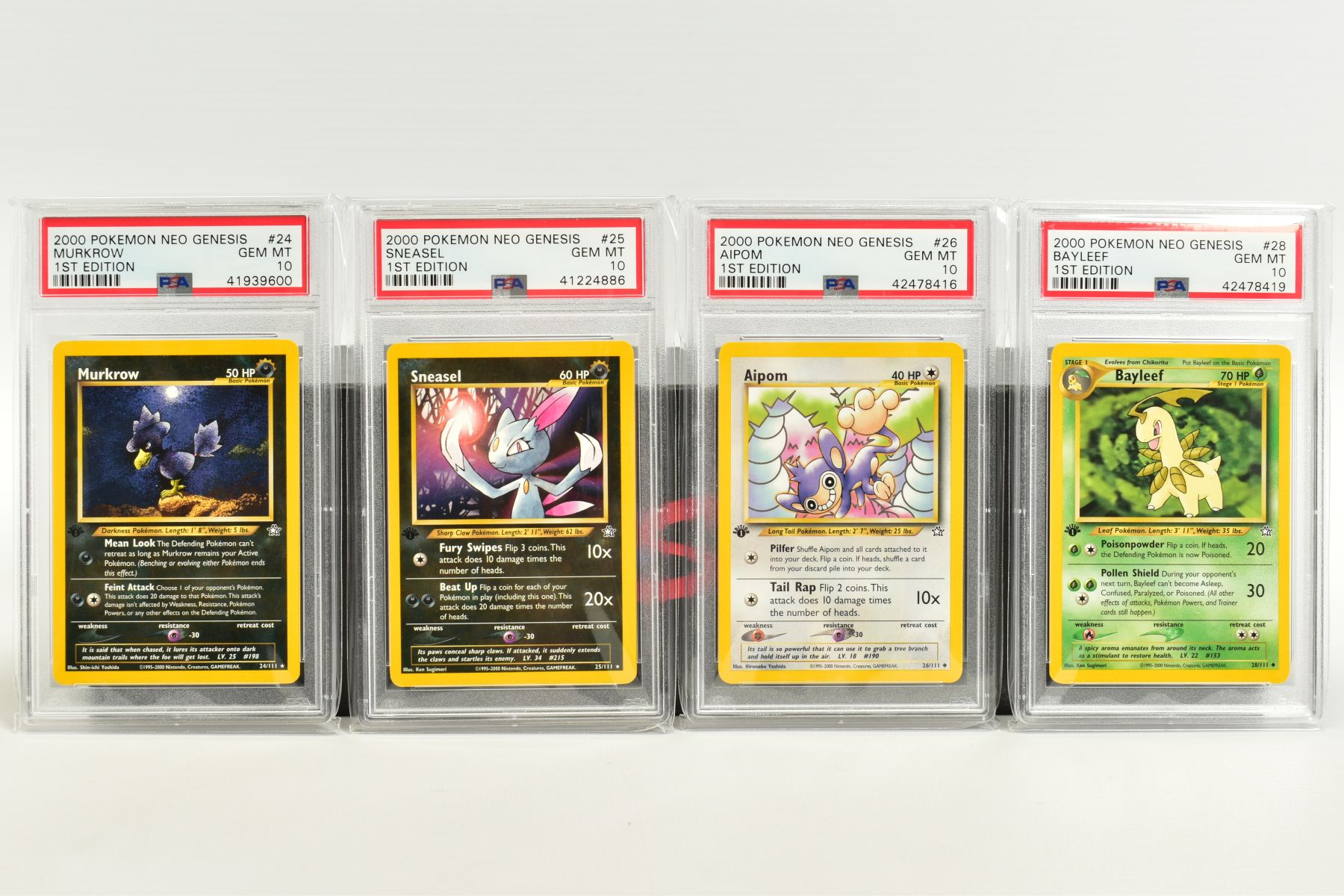 A QUANTITY OF PSA GRADED POKEMON 1ST EDITION NEO GENESIS SET CARDS, all are graded GEM MINT 10 and - Image 3 of 24