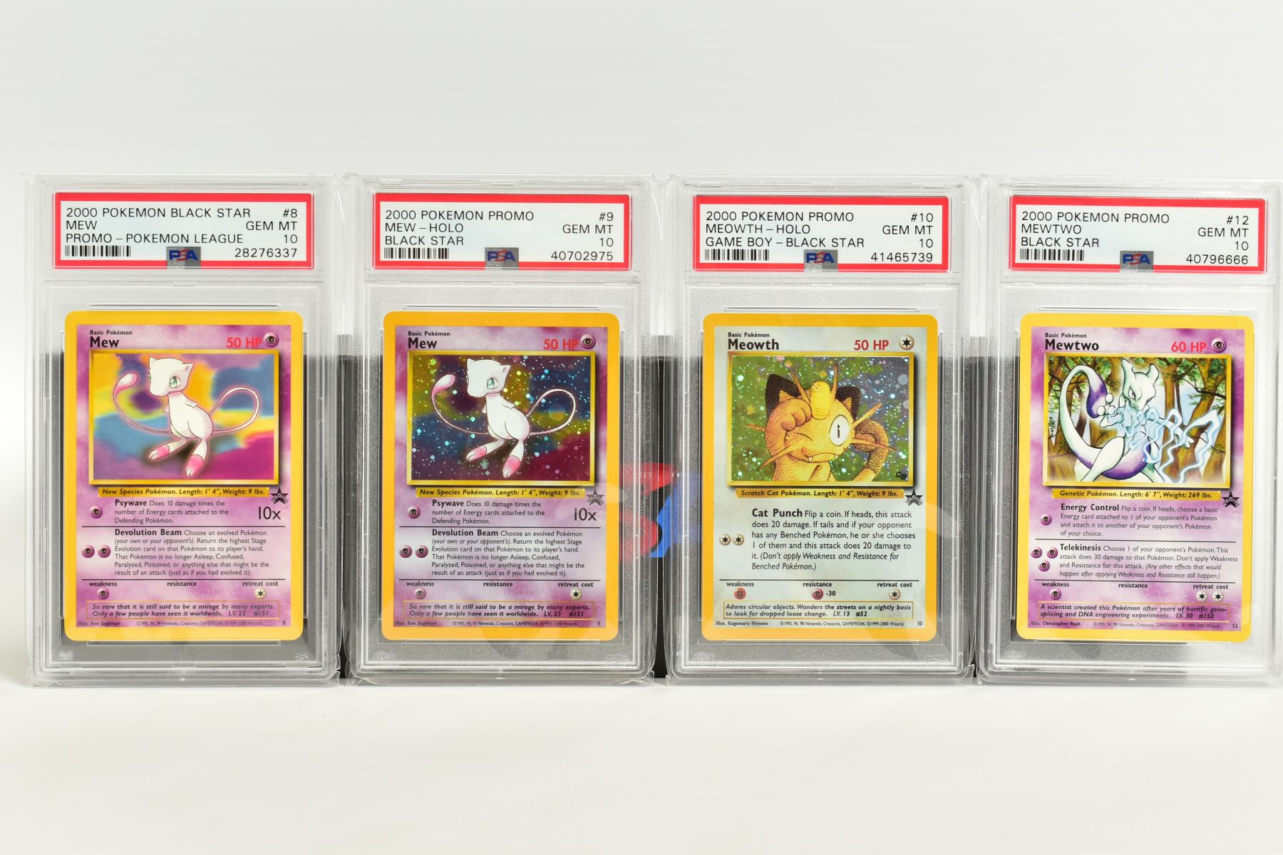 A QUANTITY OF PSA GRADED WIZARDS OF THE COAST POKEMON BLACK STAR PROMO CARDS, all date from 1999 - Image 3 of 8
