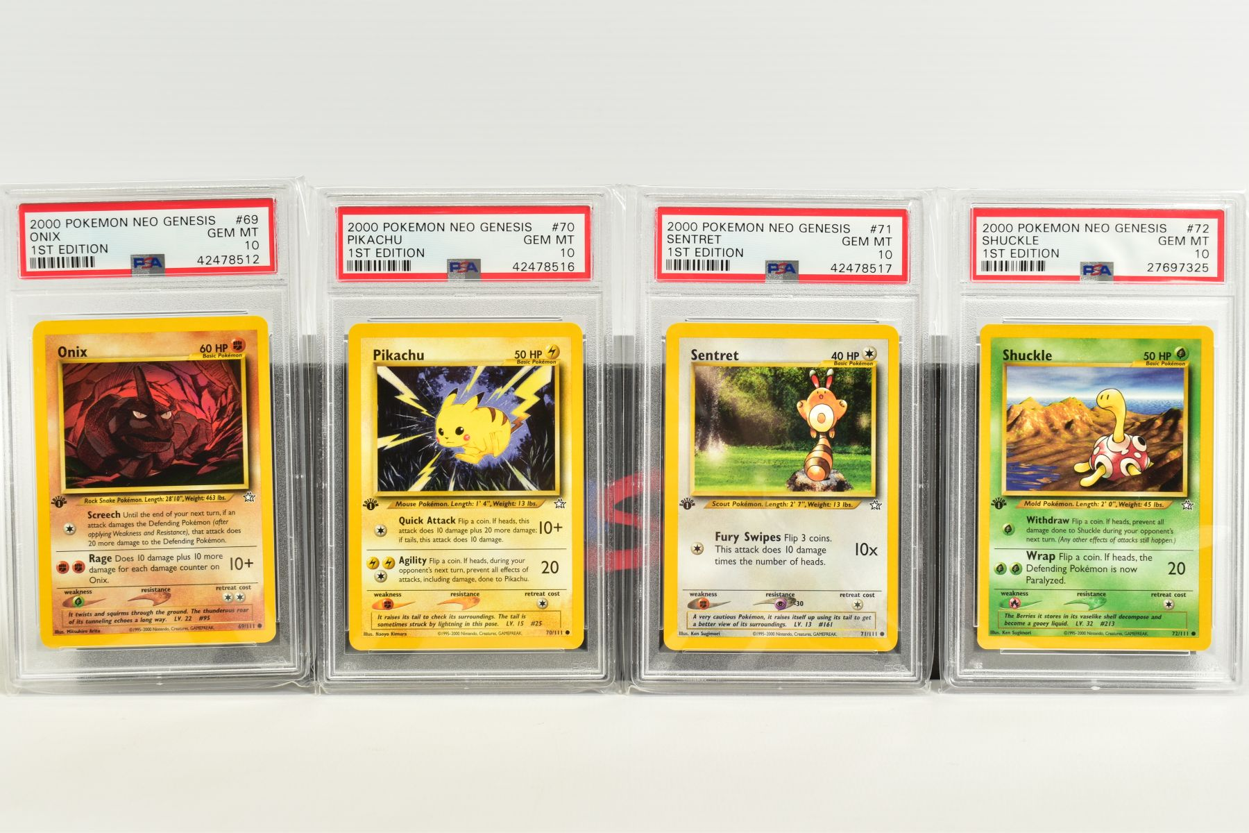 A QUANTITY OF PSA GRADED POKEMON 1ST EDITION NEO GENESIS SET CARDS, all are graded GEM MINT 10 and - Image 14 of 24