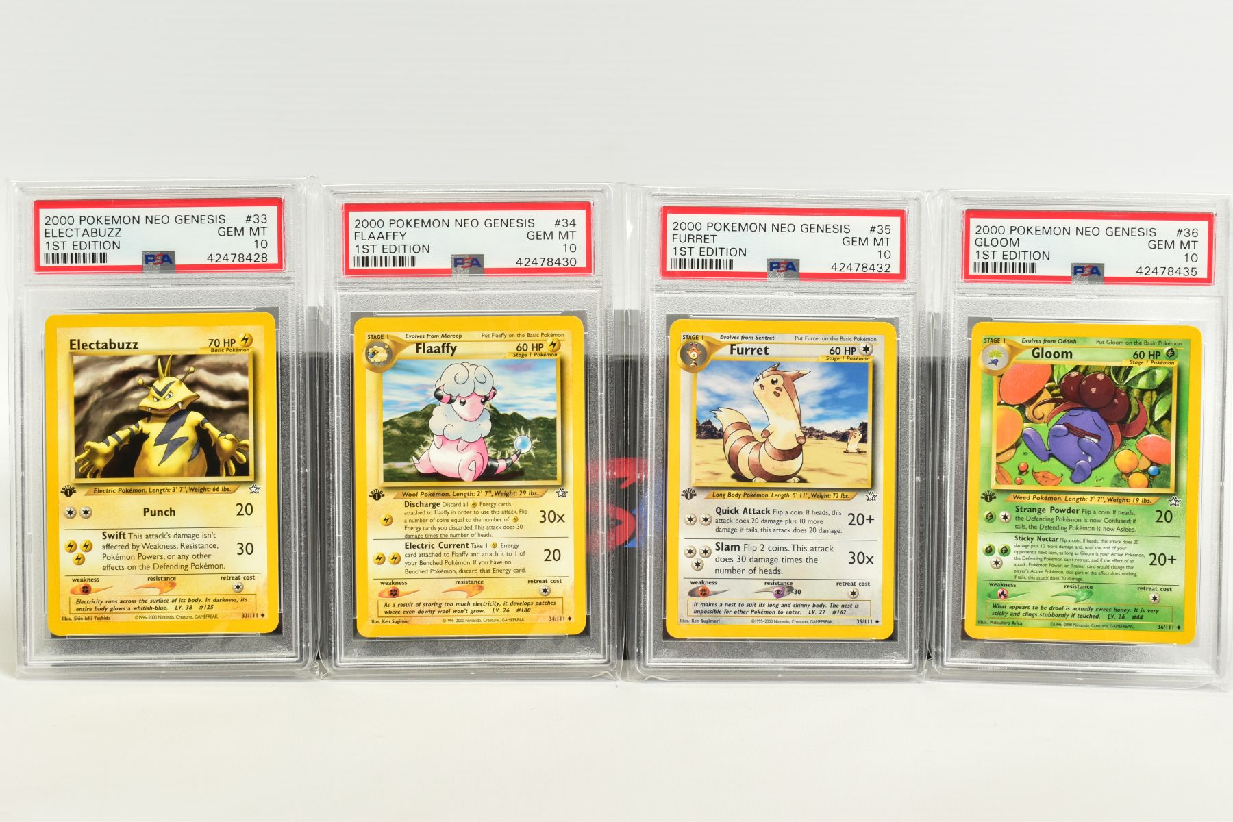 A QUANTITY OF PSA GRADED POKEMON 1ST EDITION NEO GENESIS SET CARDS, all are graded GEM MINT 10 and - Image 5 of 24