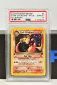 A PSA GRADED POKEMON 1ST EDITION TEAM ROCKET SET DARK CHARIZARD HOLO CARD, (4/82), graded GEM MINT