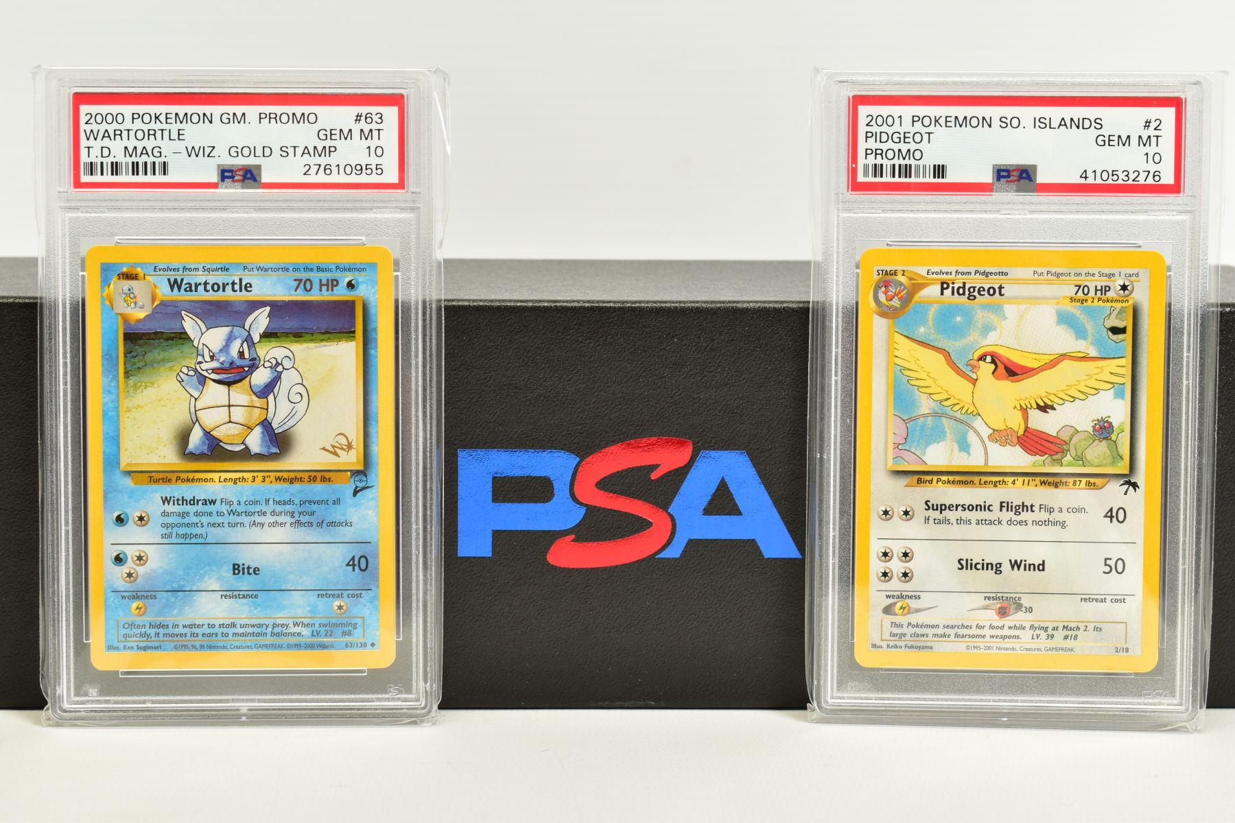A QUANTITY OF PSA GRADED POKEMON CARDS, assorted cards from the Southern Islands Promos, Build-A-