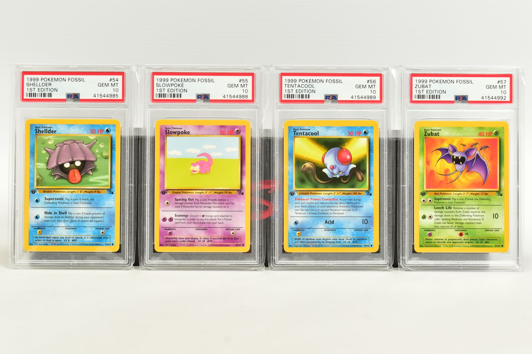 A QUANTITY OF PSA GRADED POKEMON 1ST EDITION FOSSIL SET CARDS, cards number 36 to 62 and Kabuto - Image 6 of 8