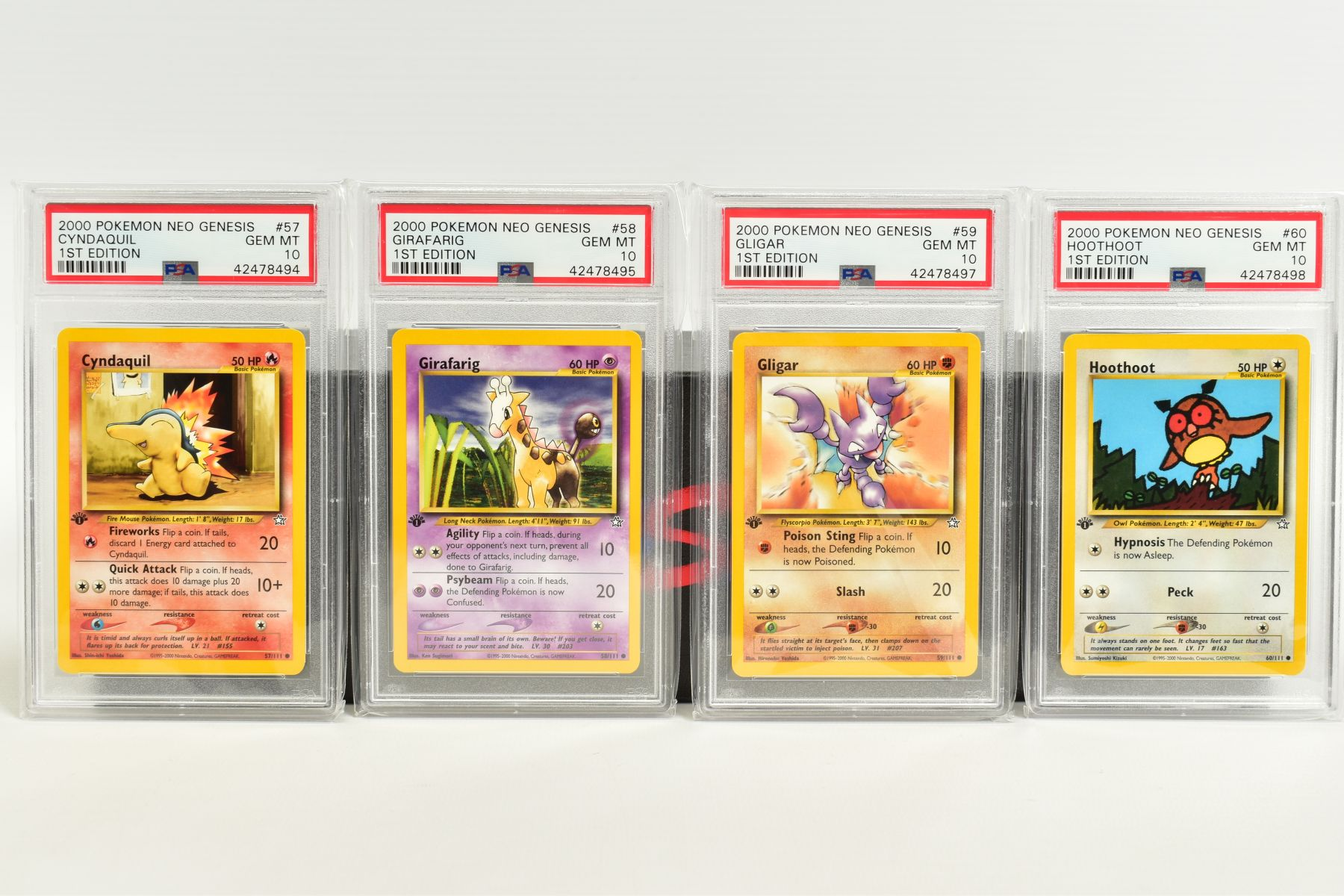 A QUANTITY OF PSA GRADED POKEMON 1ST EDITION NEO GENESIS SET CARDS, all are graded GEM MINT 10 and - Image 11 of 24