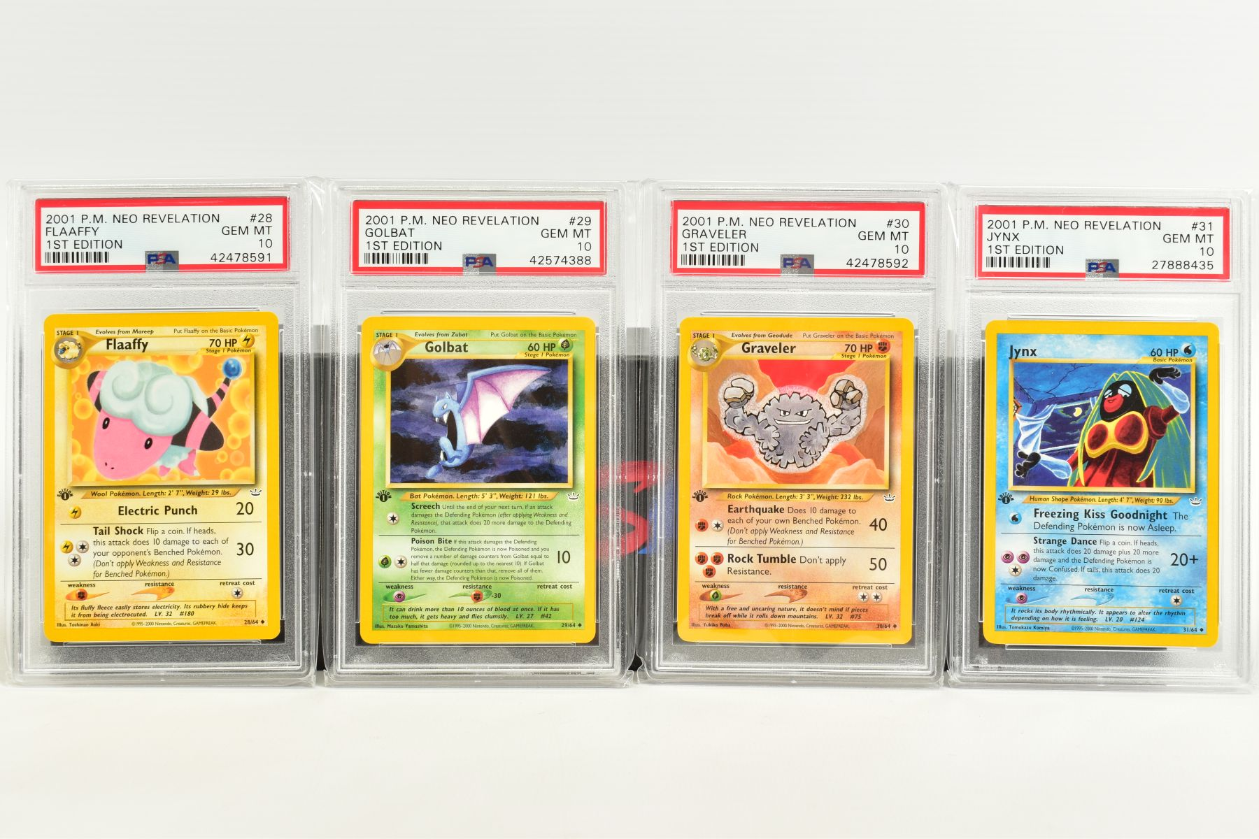 A QUANTITY OF PSA GRADED POKEMON 1ST EDITION NEO REVELATION SET CARDS, all are graded GEM MINT 10 - Image 6 of 14