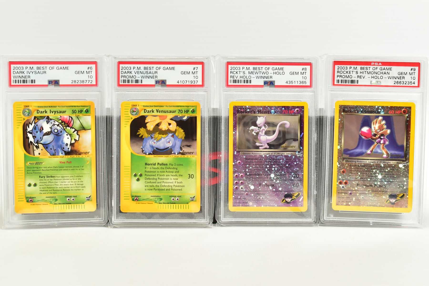 A QUANTITY OF PSA GRADED POKEMON BEST OF GAME CARDS, all are graded GEM MINT 10 and are sealed in - Image 4 of 4