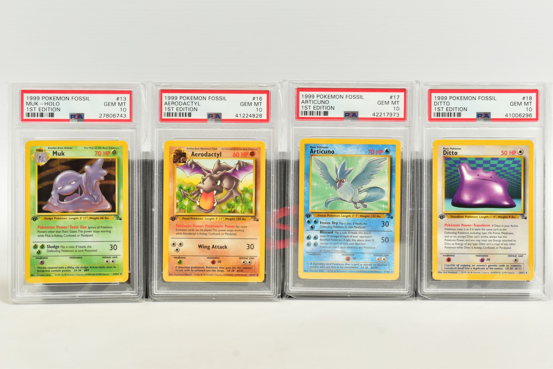 A QUANTITY OF PSA GRADED POKEMON 1ST EDITION FOSSIL SET CARDS, assorted cards between numbers 3 - Image 3 of 8