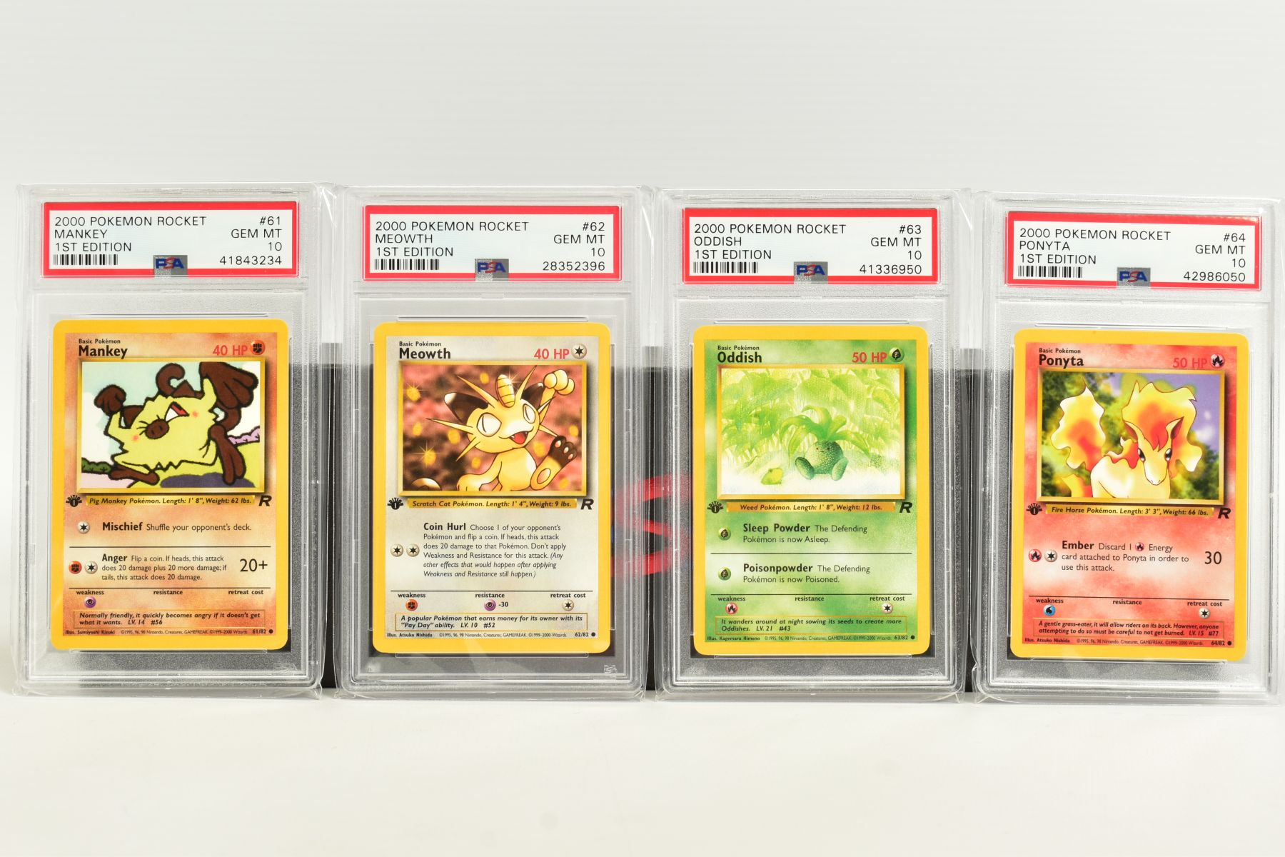 A QUANTITY OF PSA GRADED POKEMON 1ST EDITION TEAM ROCKET SET CARDS, cards number 47 to 82, Pre - Image 5 of 11