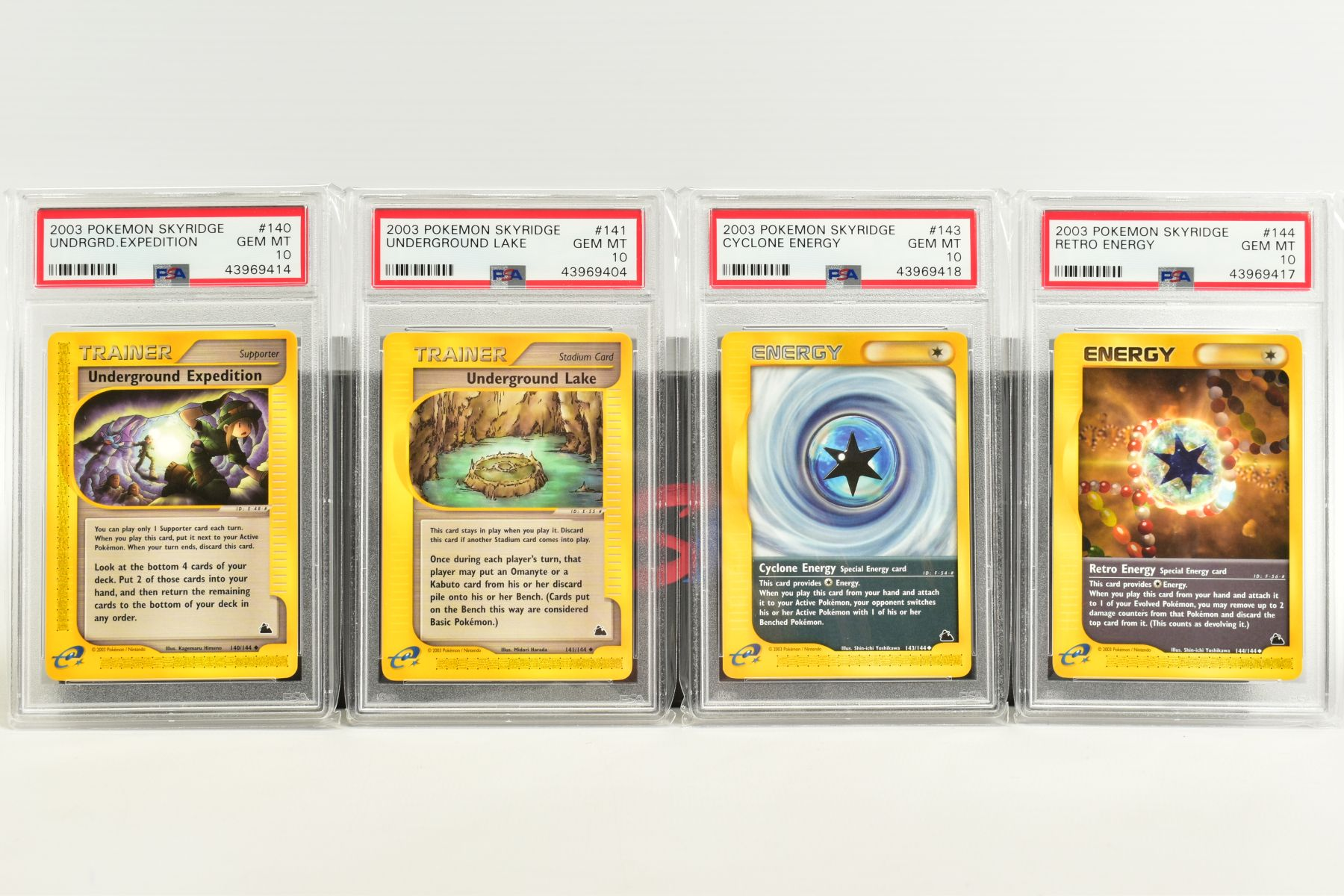 A QUANTITY OF PSA GRADED POKEMON SKYRIDGE SET CARDS, all are graded GEM MINT 10 and are sealed in - Image 9 of 9