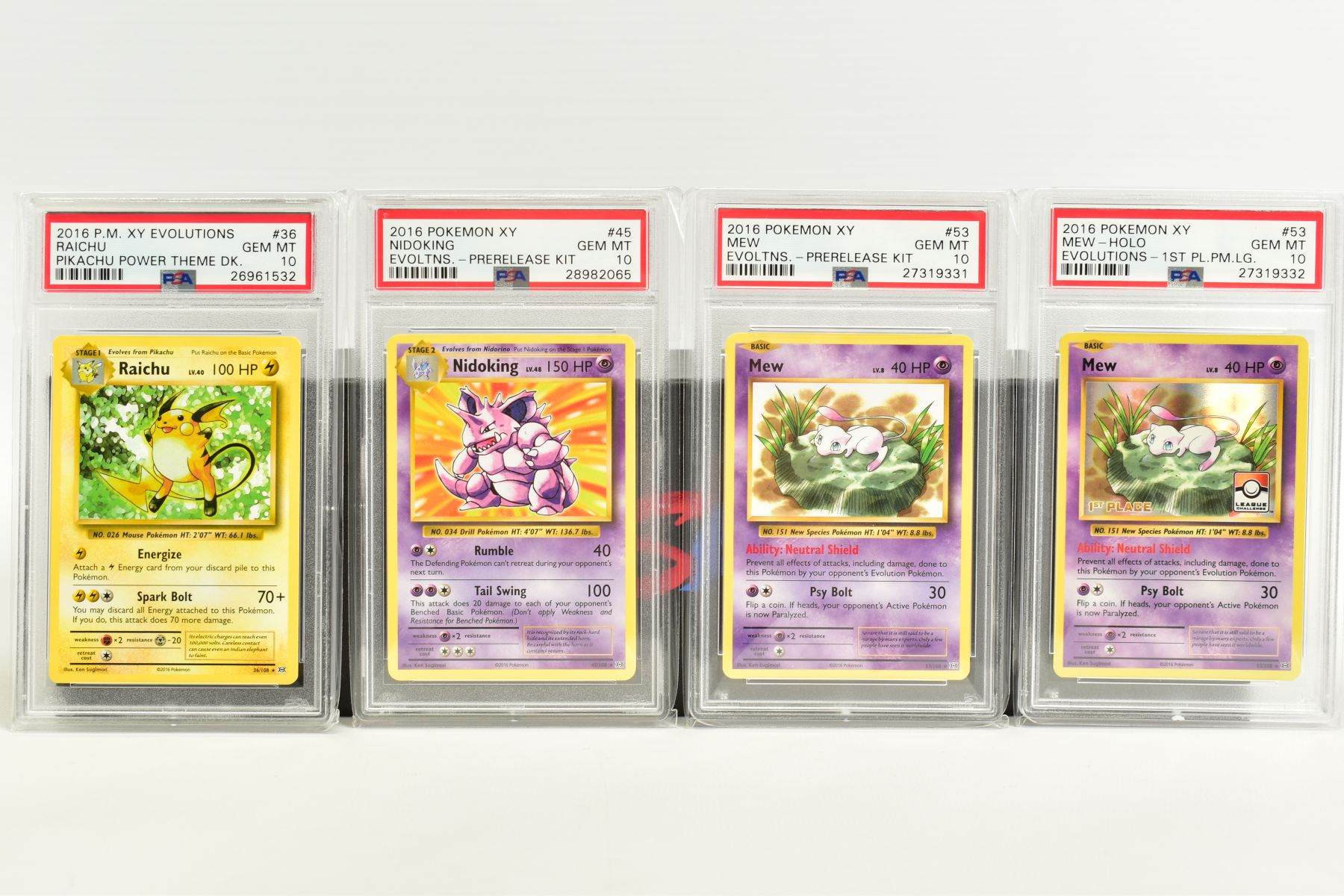 A QUANTITY OF PSA GRADED POKEMON XY EVOLUTIONS SET CARDS, all are graded GEM MINT 10 and are - Image 9 of 10