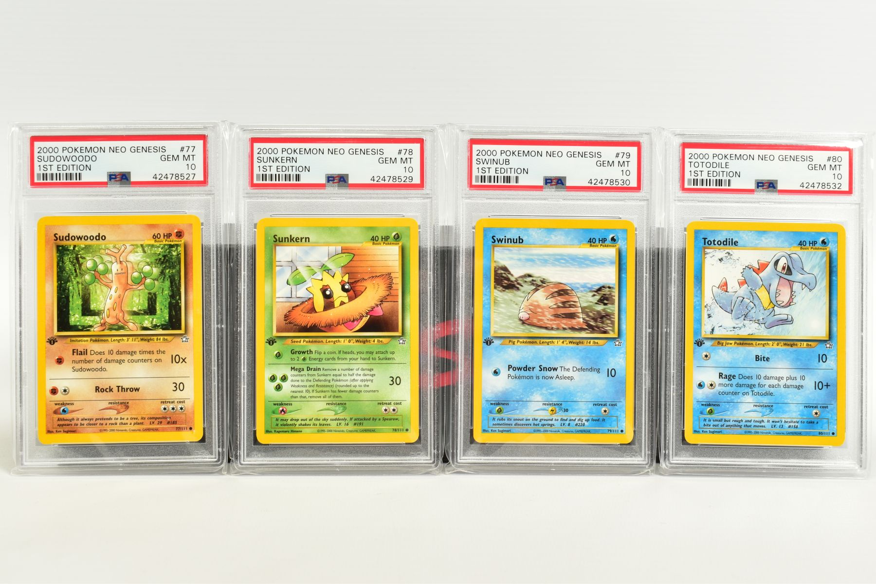 A QUANTITY OF PSA GRADED POKEMON 1ST EDITION NEO GENESIS SET CARDS, all are graded GEM MINT 10 and - Image 16 of 24