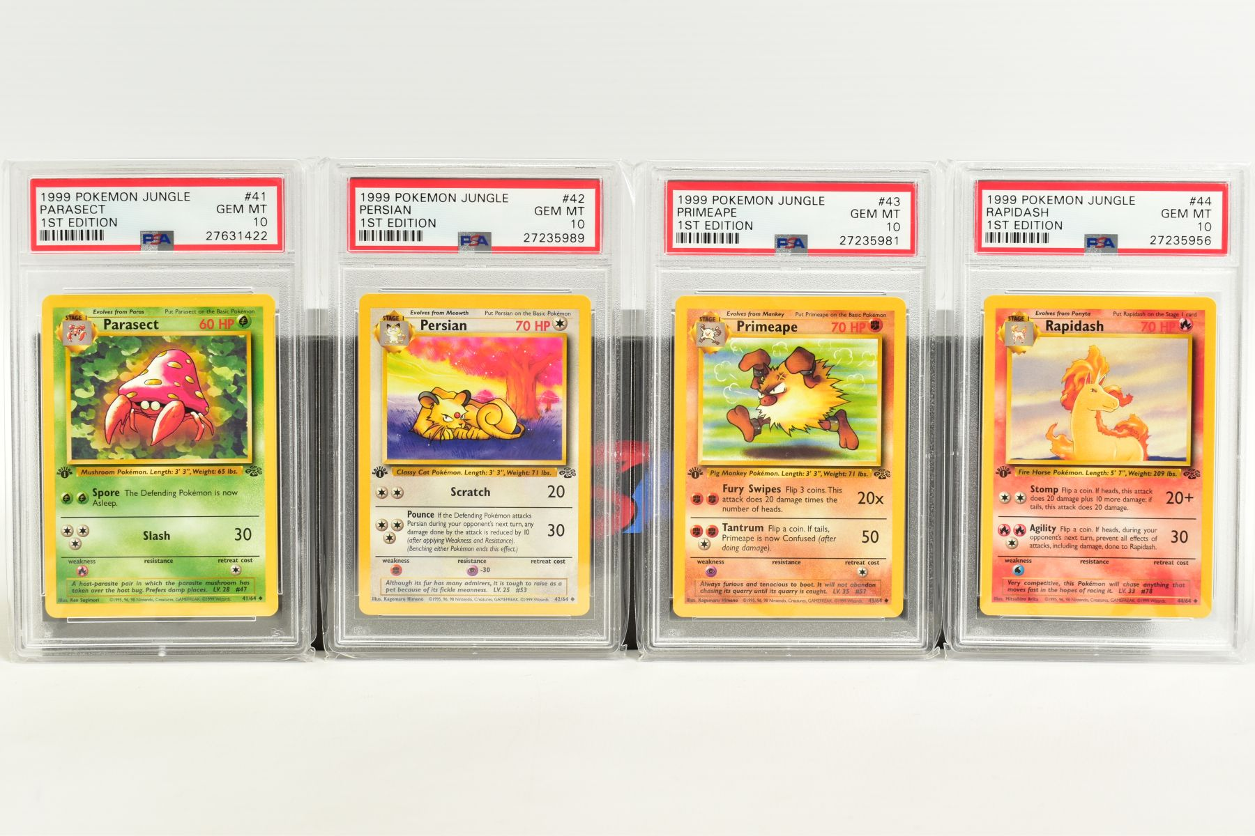 A QUANTITY OF PSA GRADED POKEMON 1ST EDITION JUNGLE SET CARDS, all are graded GEM MINT 10 and are - Image 8 of 13
