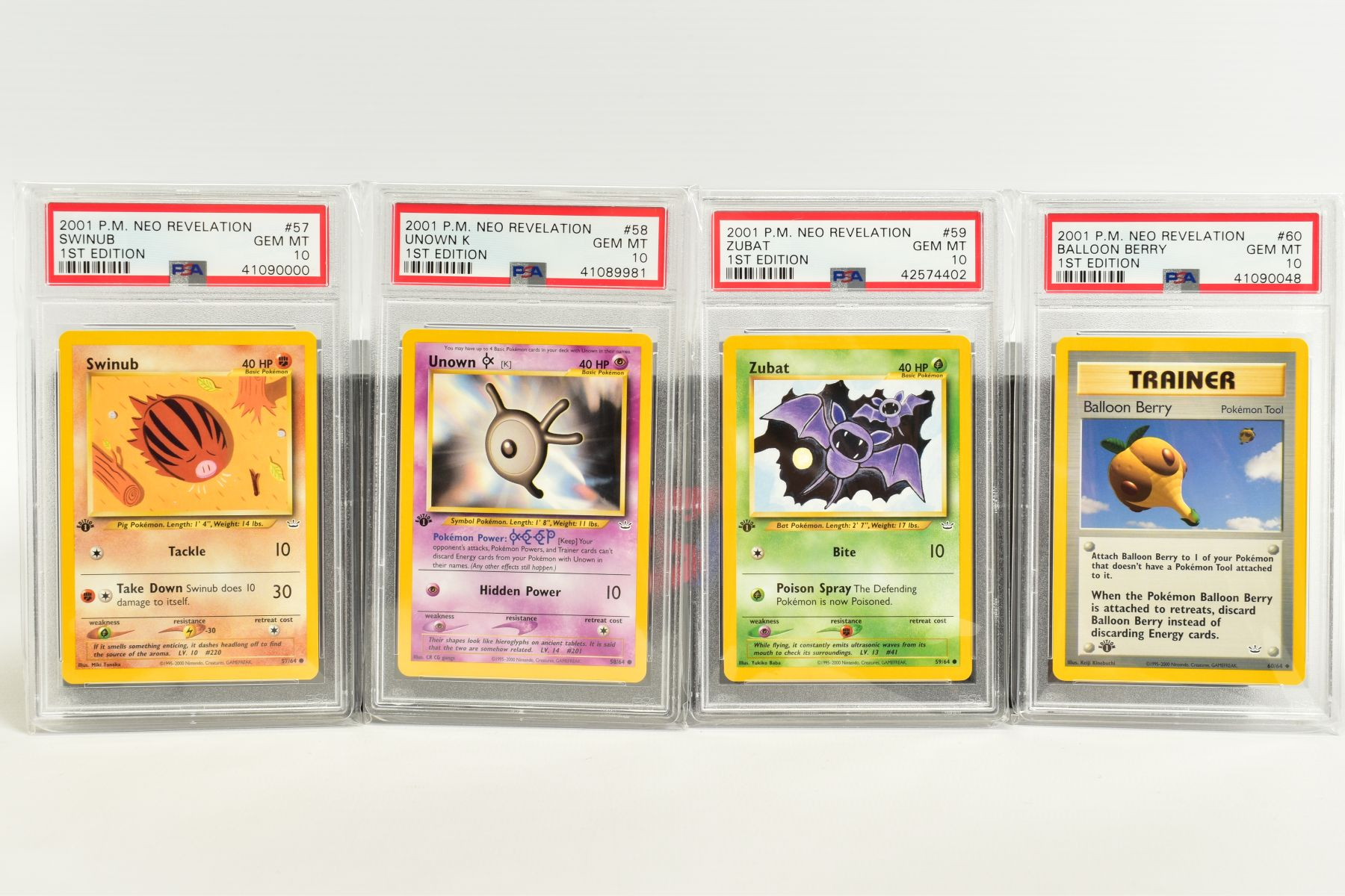 A QUANTITY OF PSA GRADED POKEMON 1ST EDITION NEO REVELATION SET CARDS, all are graded GEM MINT 10 - Image 13 of 14