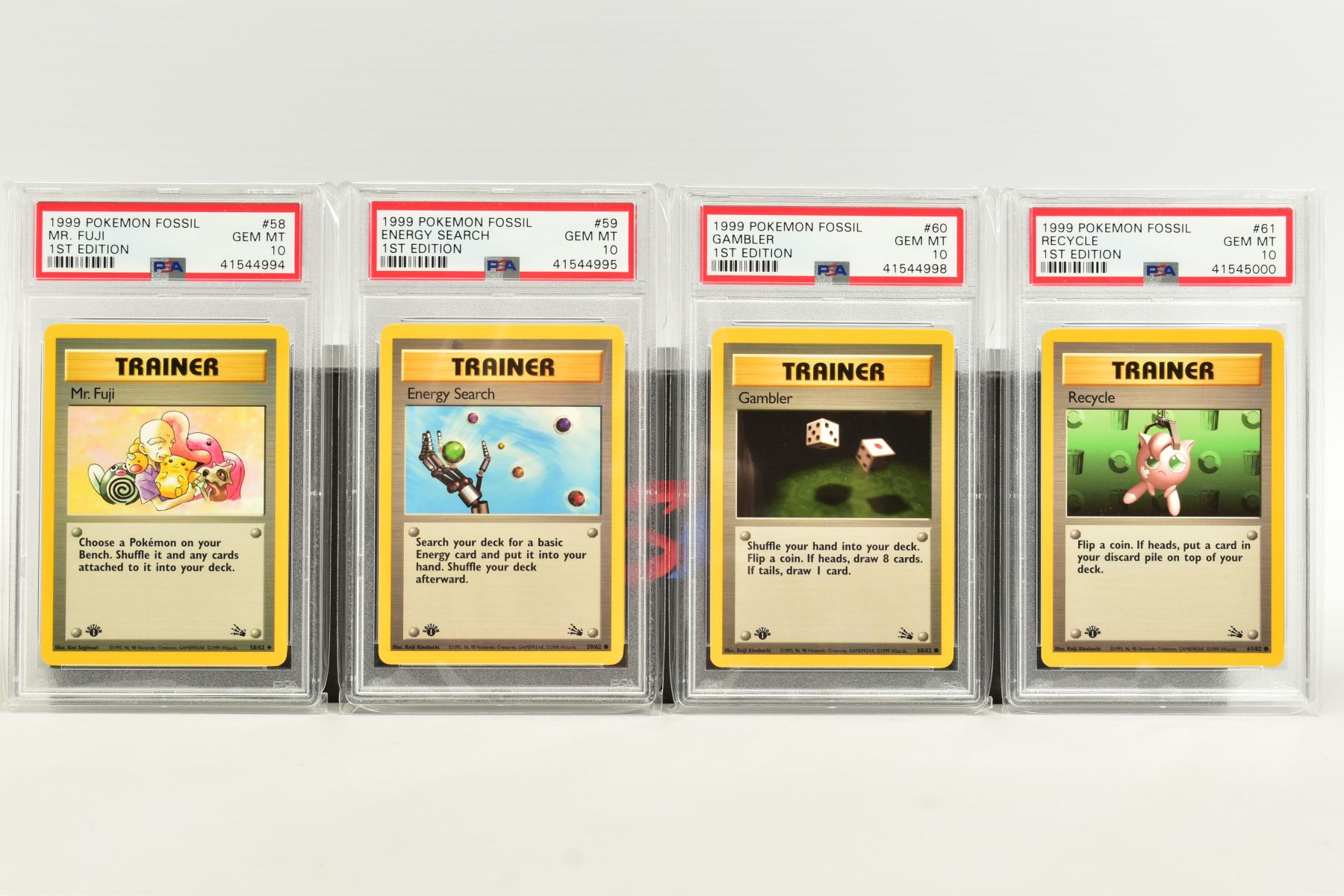 A QUANTITY OF PSA GRADED POKEMON 1ST EDITION FOSSIL SET CARDS, cards number 36 to 62 and Kabuto - Image 7 of 8