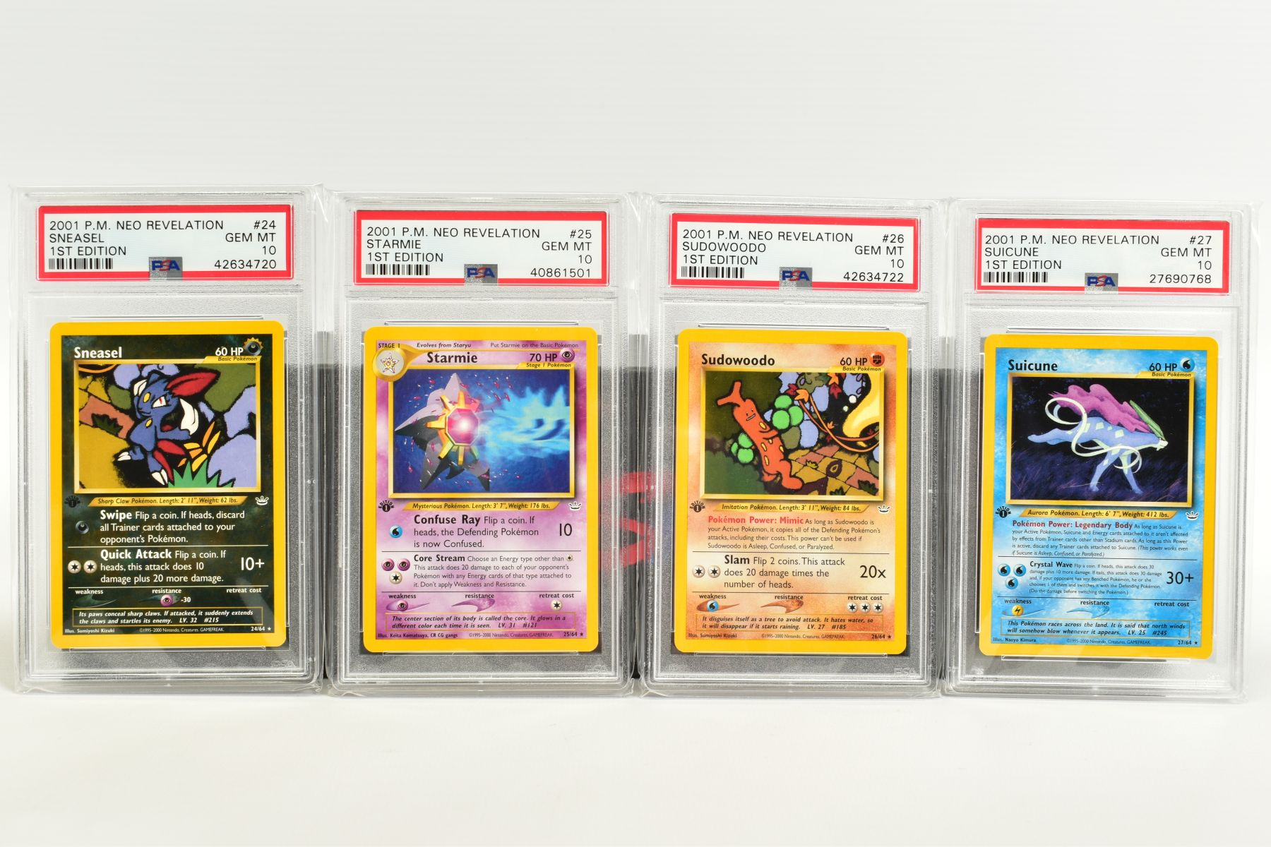 A QUANTITY OF PSA GRADED POKEMON 1ST EDITION NEO REVELATION SET CARDS, all are graded GEM MINT 10 - Image 5 of 14