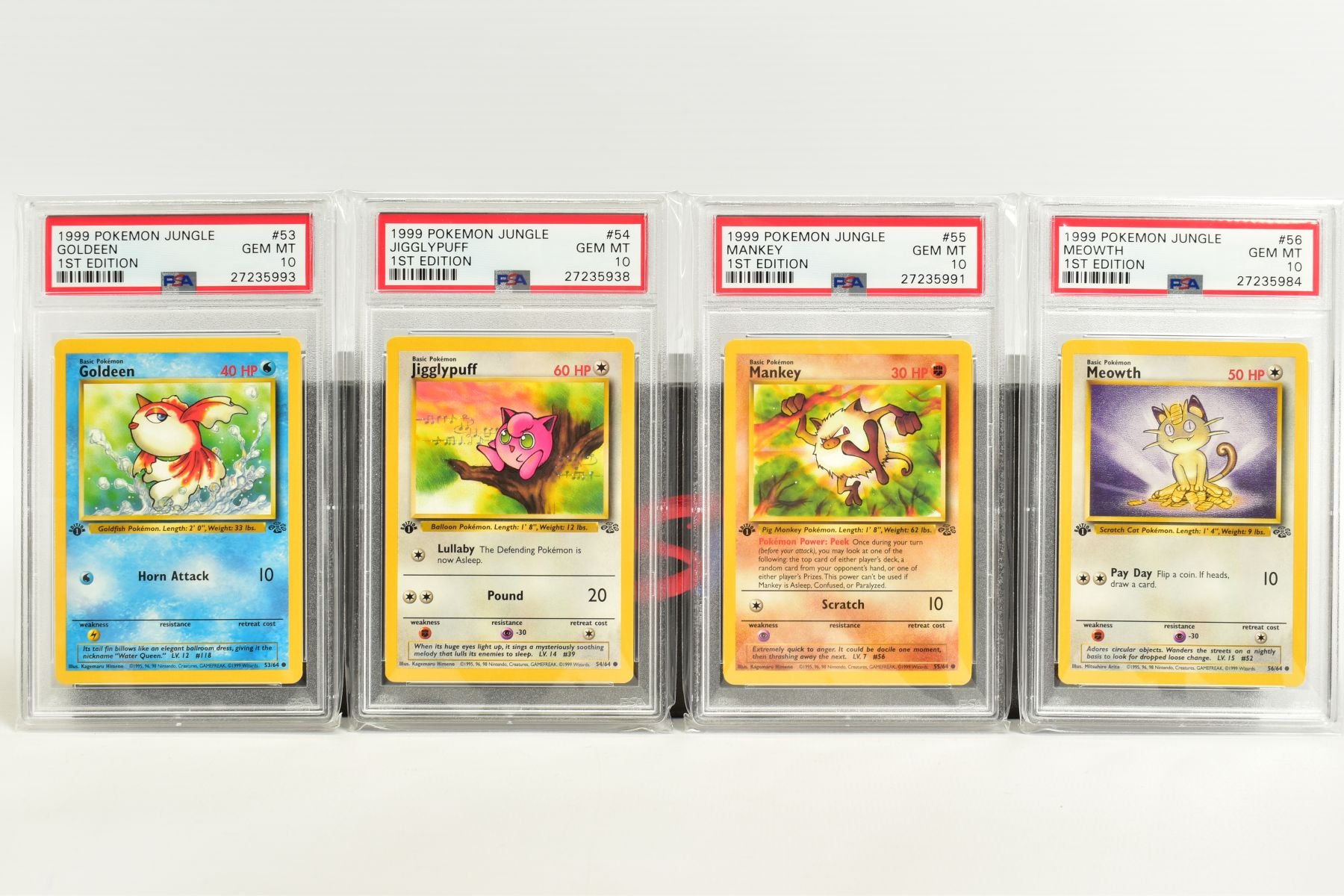 A QUANTITY OF PSA GRADED POKEMON 1ST EDITION JUNGLE SET CARDS, all are graded GEM MINT 10 and are - Image 11 of 13