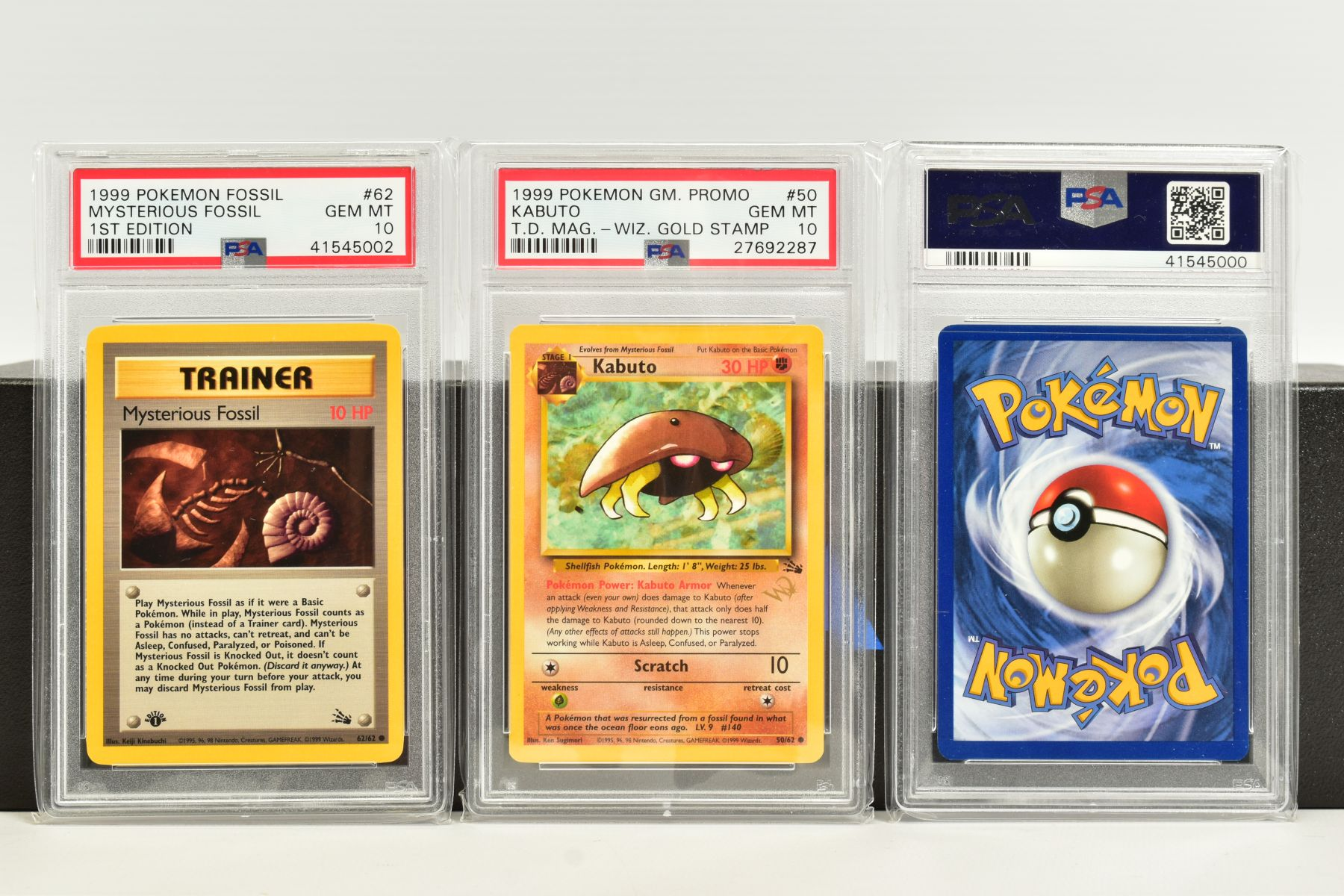 A QUANTITY OF PSA GRADED POKEMON 1ST EDITION FOSSIL SET CARDS, cards number 36 to 62 and Kabuto - Image 8 of 8