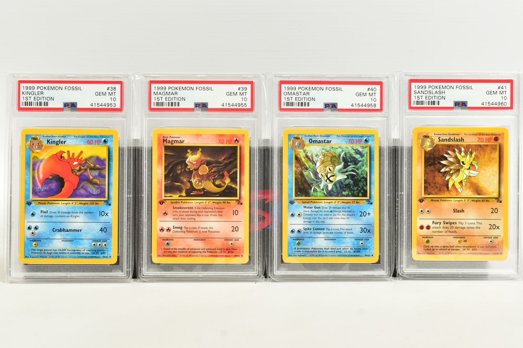 A QUANTITY OF PSA GRADED POKEMON 1ST EDITION FOSSIL SET CARDS, cards number 36 to 62 and Kabuto - Image 2 of 8