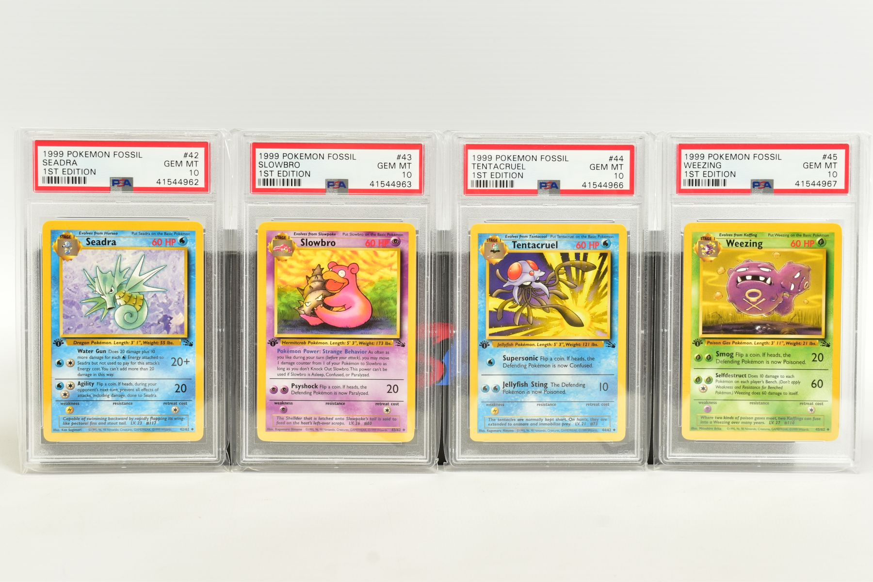 A QUANTITY OF PSA GRADED POKEMON 1ST EDITION FOSSIL SET CARDS, cards number 36 to 62 and Kabuto - Image 3 of 8
