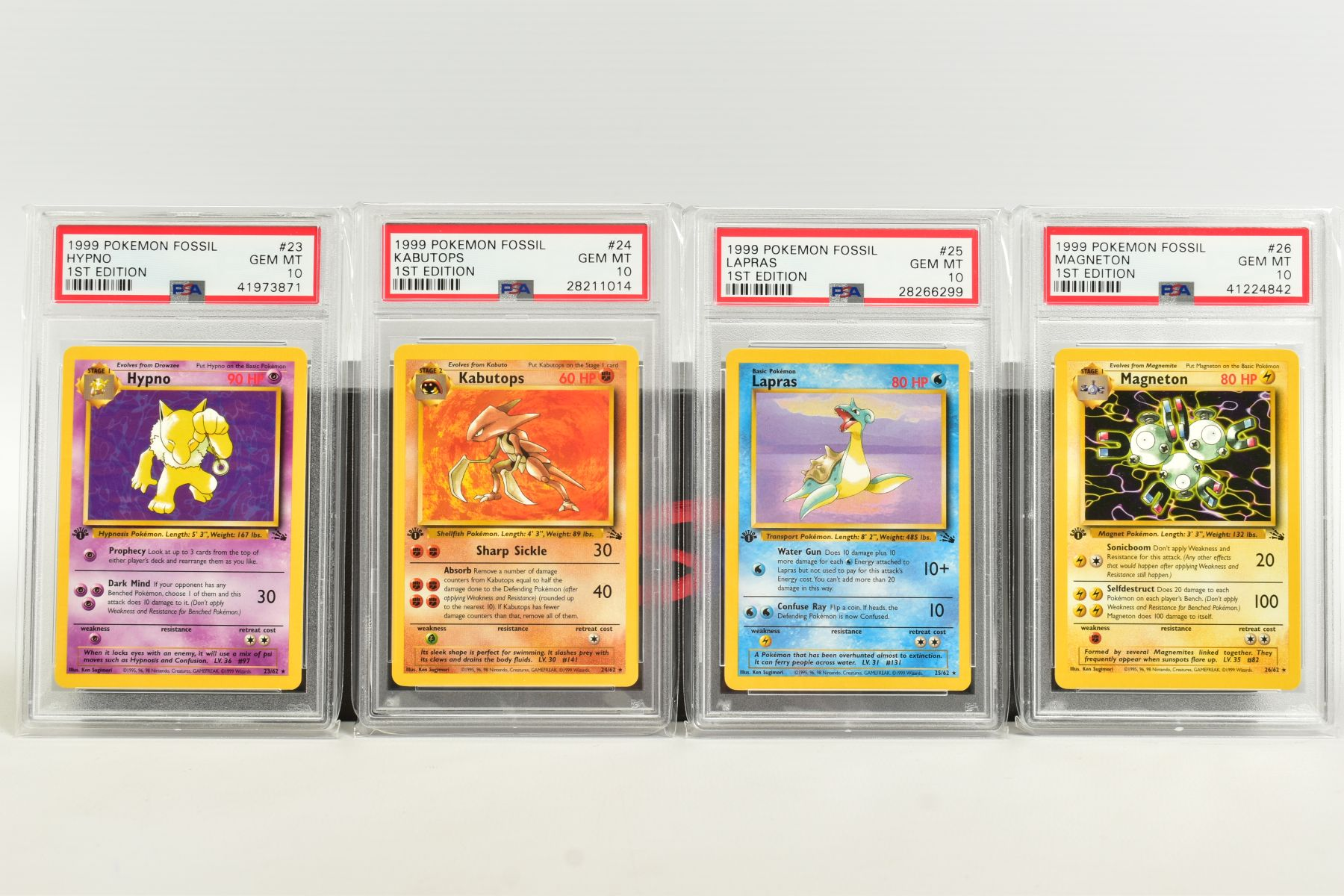 A QUANTITY OF PSA GRADED POKEMON 1ST EDITION FOSSIL SET CARDS, assorted cards between numbers 3 - Image 5 of 8