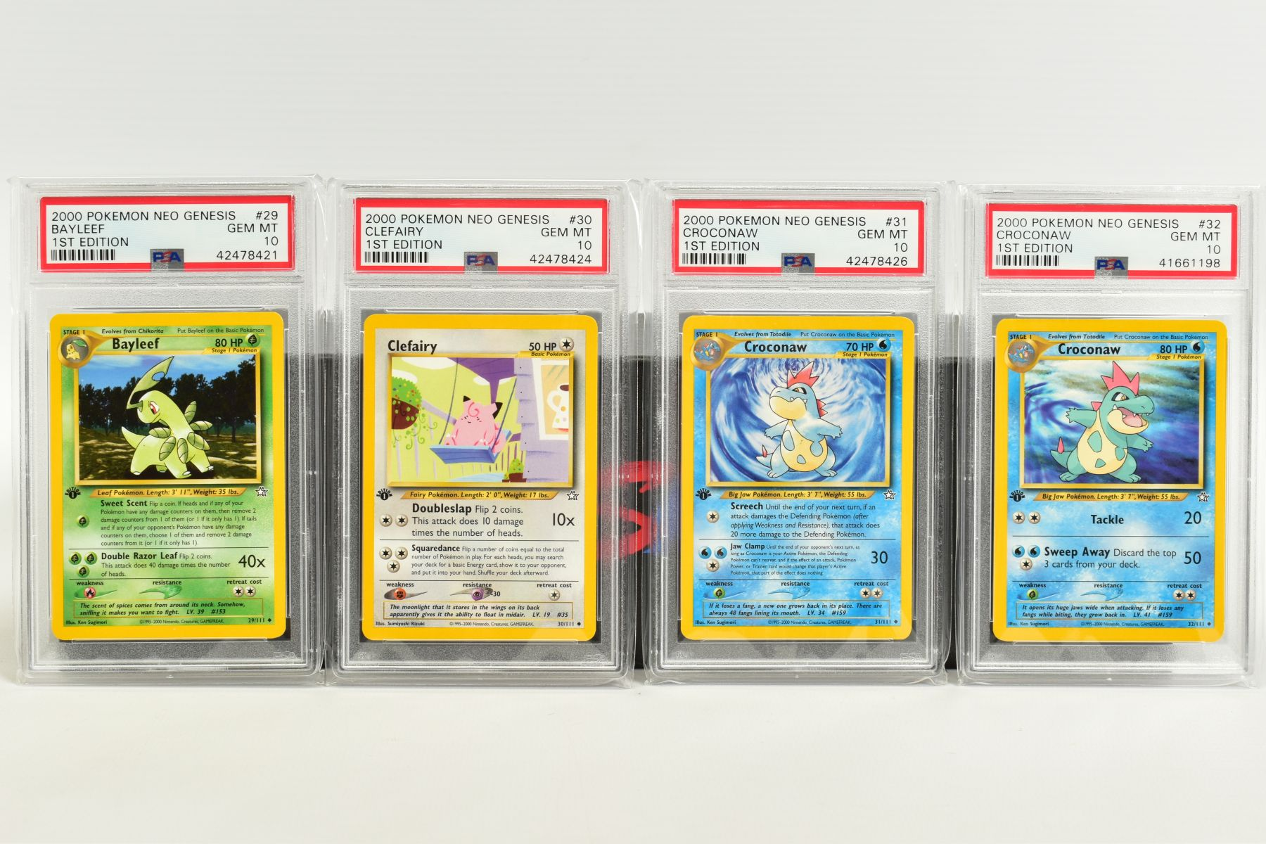 A QUANTITY OF PSA GRADED POKEMON 1ST EDITION NEO GENESIS SET CARDS, all are graded GEM MINT 10 and - Image 4 of 24