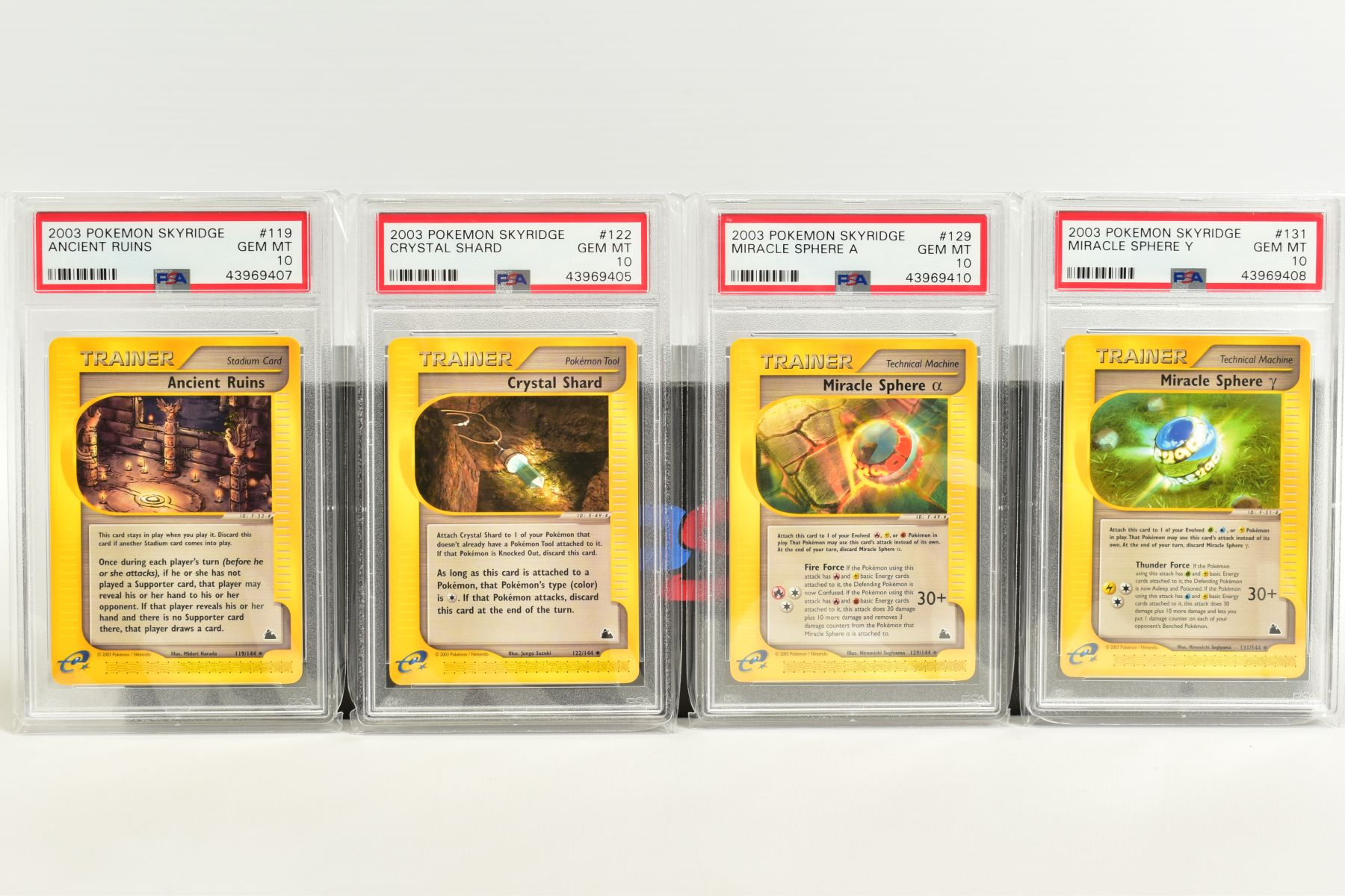 A QUANTITY OF PSA GRADED POKEMON SKYRIDGE SET CARDS, all are graded GEM MINT 10 and are sealed in - Image 7 of 9