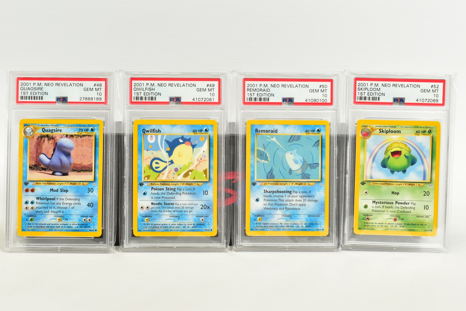 A QUANTITY OF PSA GRADED POKEMON 1ST EDITION NEO REVELATION SET CARDS, all are graded GEM MINT 10 - Image 11 of 14