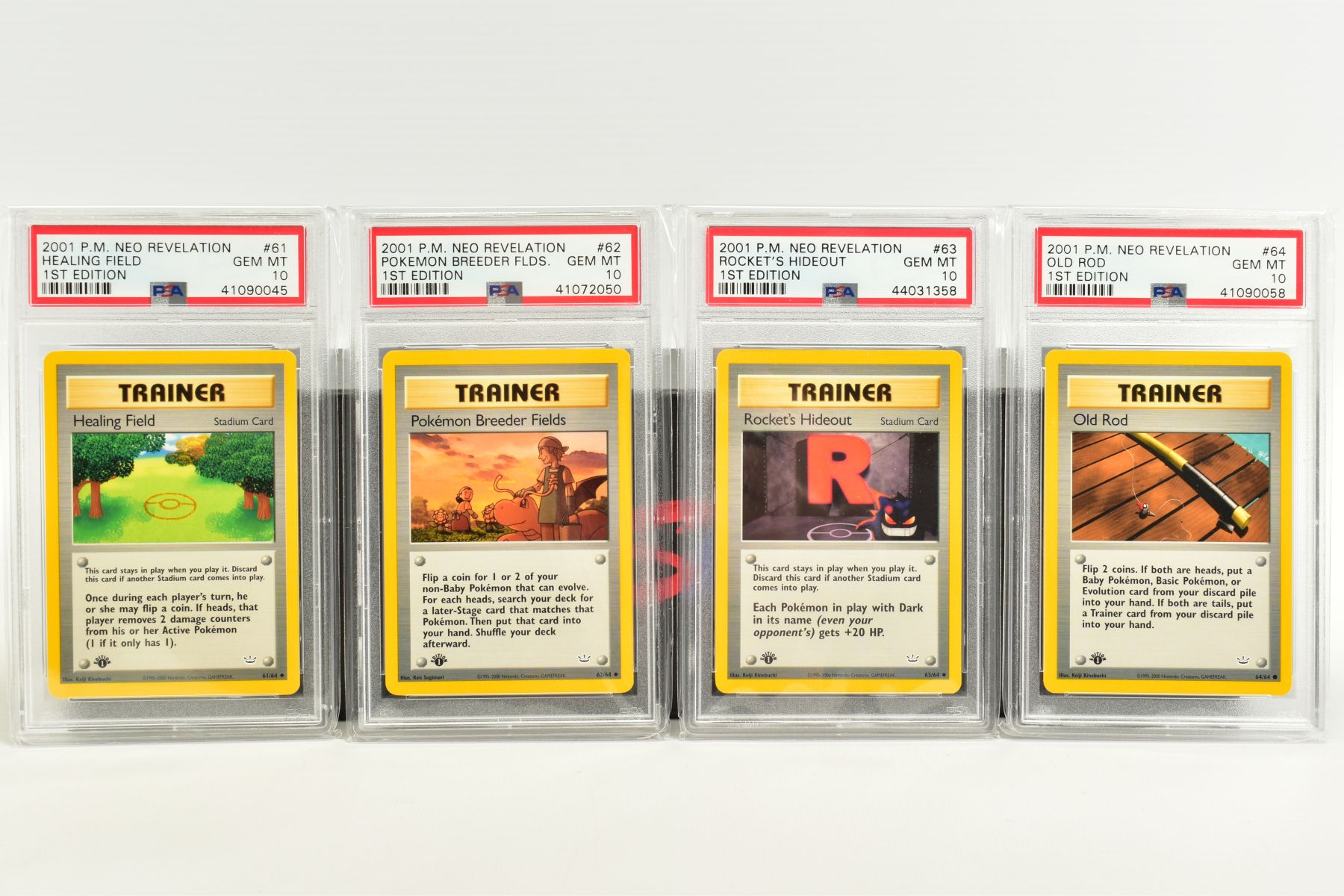 A QUANTITY OF PSA GRADED POKEMON 1ST EDITION NEO REVELATION SET CARDS, all are graded GEM MINT 10 - Image 14 of 14
