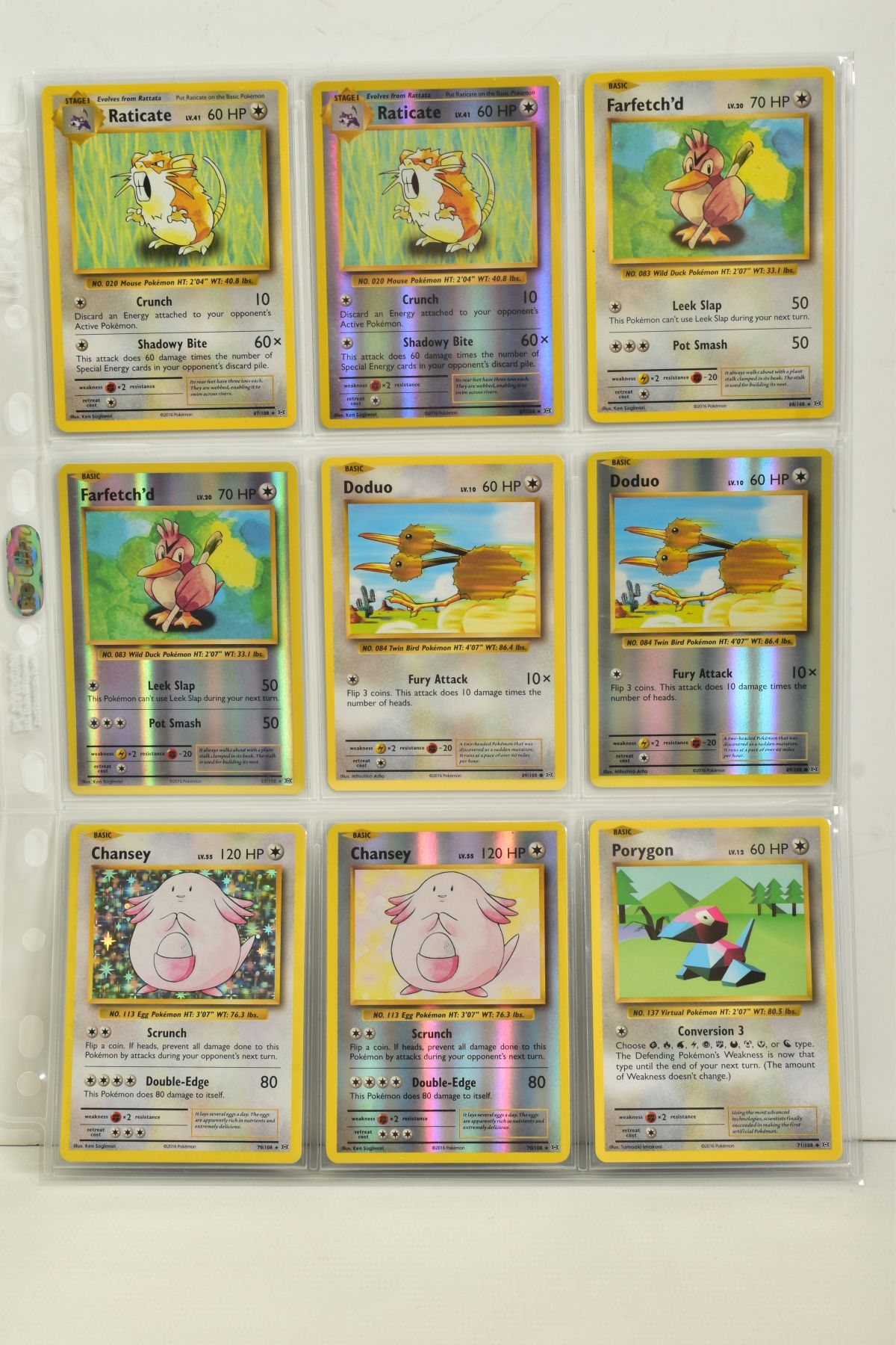 A COLLECTION OF ASSORTED POKEMON CARDS, to include complete master sets of XY Breakpoint, XY Roaring - Image 100 of 108