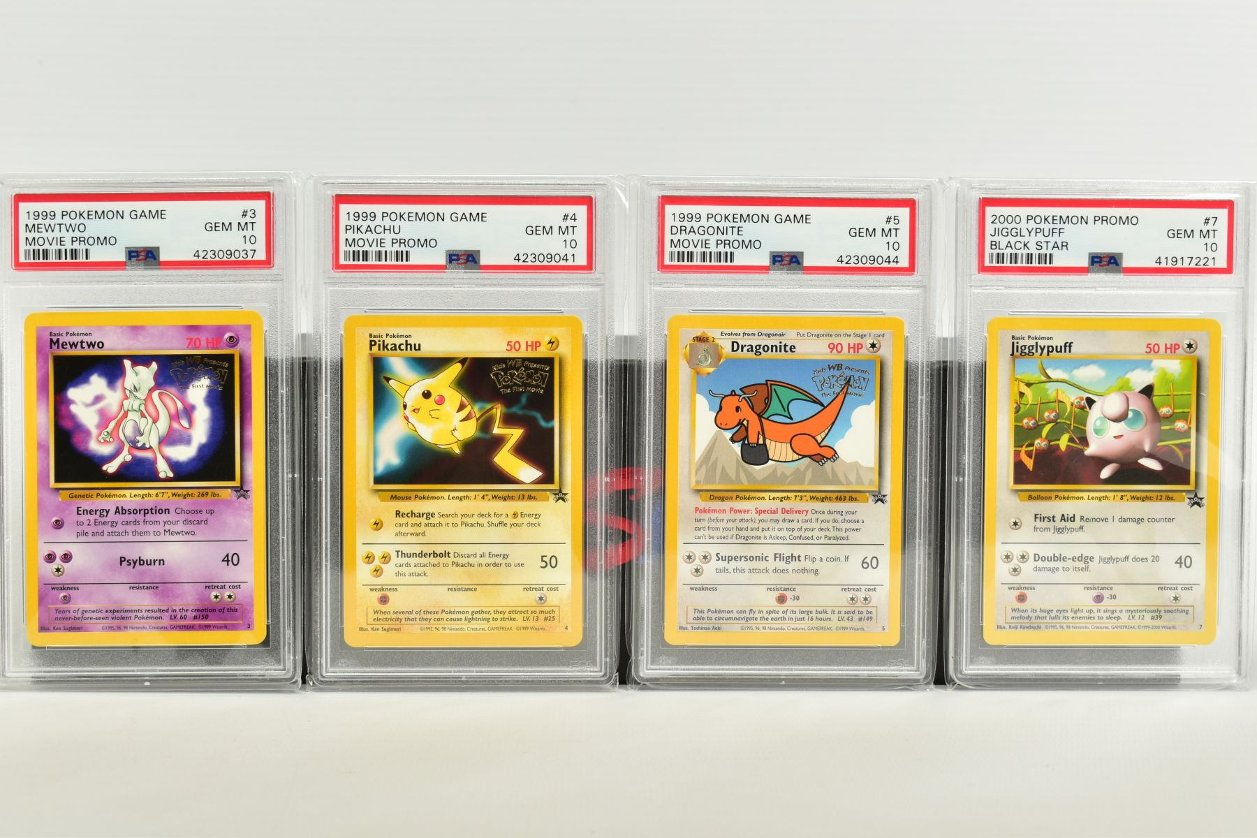 A QUANTITY OF PSA GRADED WIZARDS OF THE COAST POKEMON BLACK STAR PROMO CARDS, all date from 1999 - Image 2 of 8
