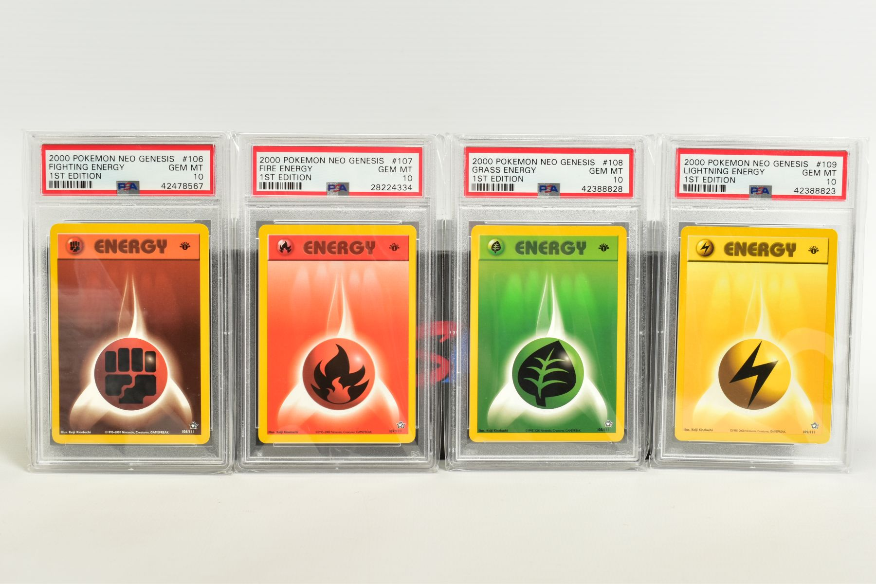 A QUANTITY OF PSA GRADED POKEMON 1ST EDITION NEO GENESIS SET CARDS, all are graded GEM MINT 10 and - Image 23 of 24