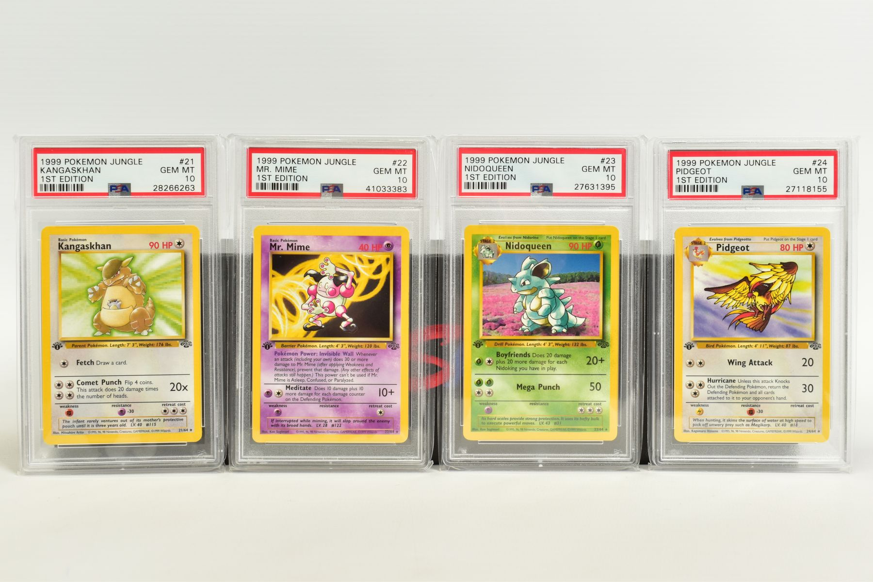 A QUANTITY OF PSA GRADED POKEMON 1ST EDITION JUNGLE SET CARDS, all are graded GEM MINT 10 and are - Image 3 of 13