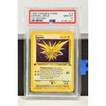 A PSA GRADED POKEMON 1ST EDITION FOSSIL SET ZAPDOS HOLO CARD, (15/62), graded GEM MINT 10 and sealed