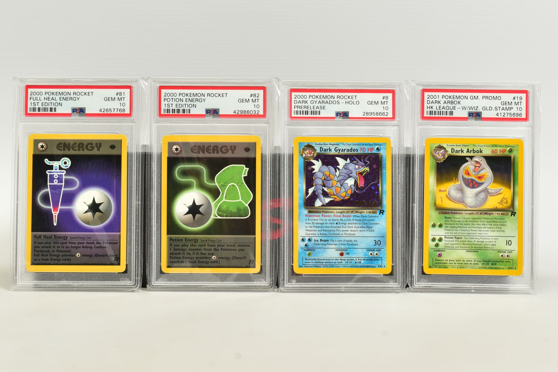 A QUANTITY OF PSA GRADED POKEMON 1ST EDITION TEAM ROCKET SET CARDS, cards number 47 to 82, Pre - Image 10 of 11