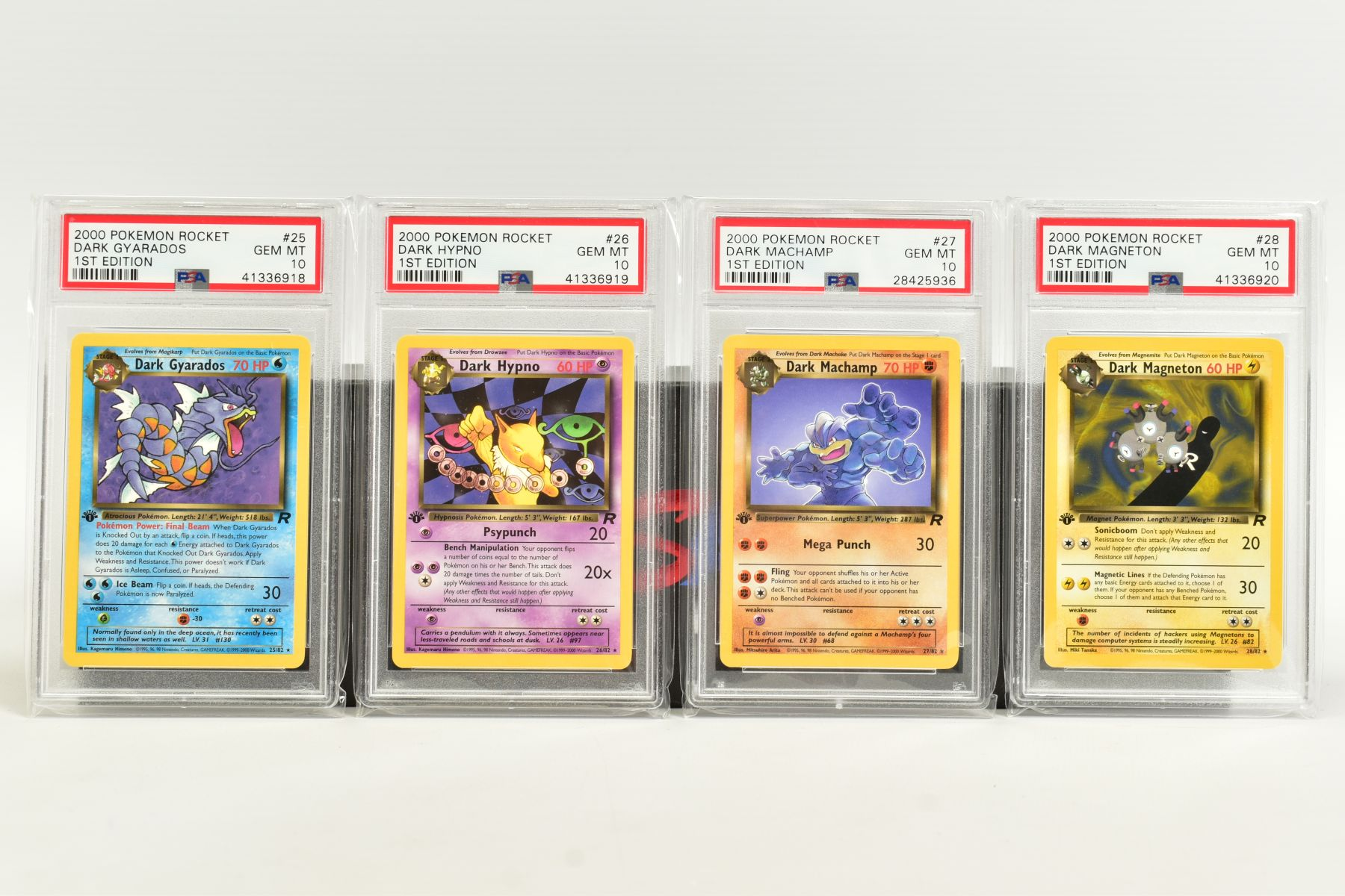 A QUANTITY OF PSA GRADED POKEMON 1ST EDITION TEAM ROCKET SET CARDS, assorted cards between numbers 1 - Image 6 of 11