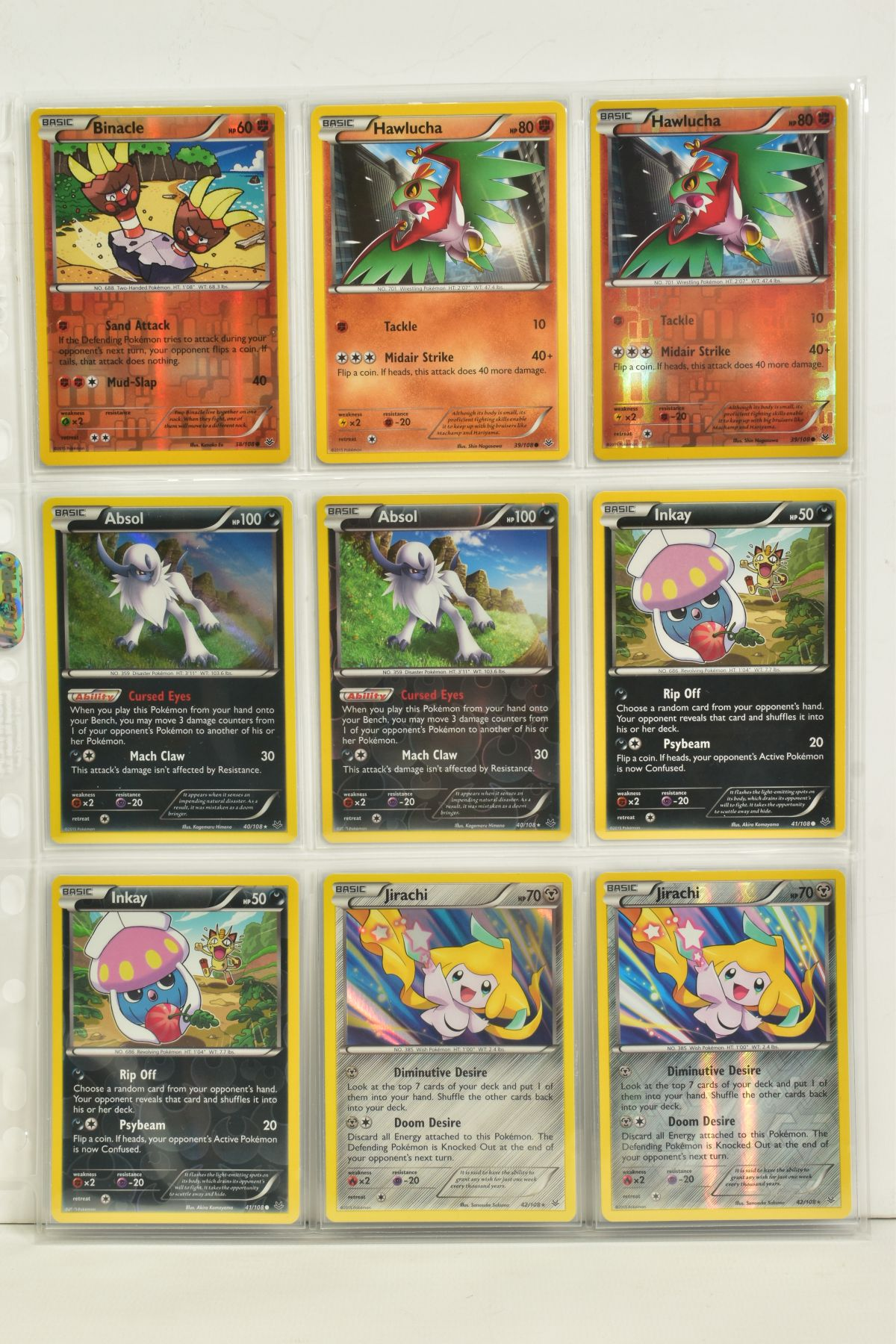A COLLECTION OF ASSORTED POKEMON CARDS, to include complete master sets of XY Breakpoint, XY Roaring - Image 73 of 108