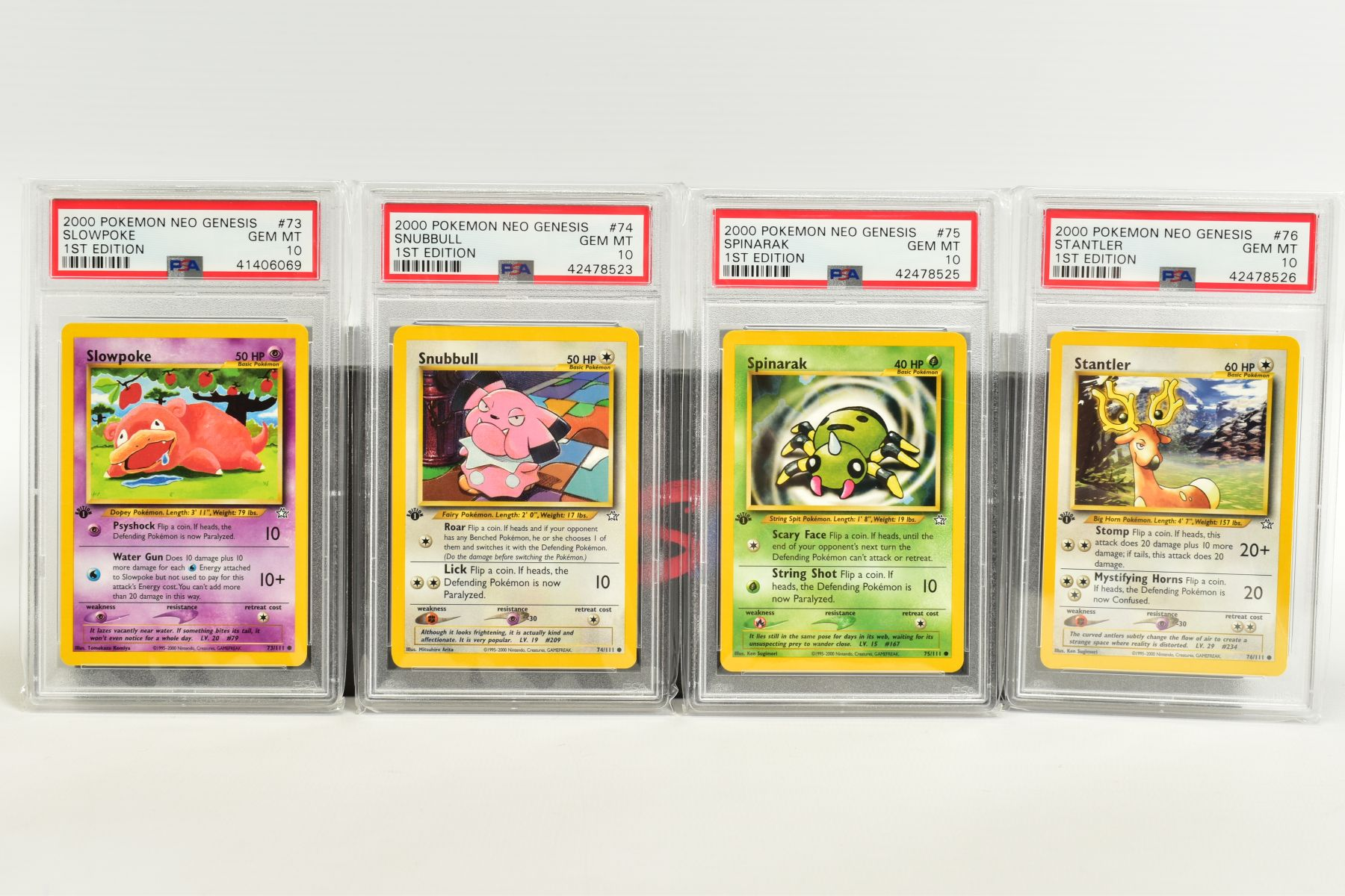 A QUANTITY OF PSA GRADED POKEMON 1ST EDITION NEO GENESIS SET CARDS, all are graded GEM MINT 10 and - Image 15 of 24
