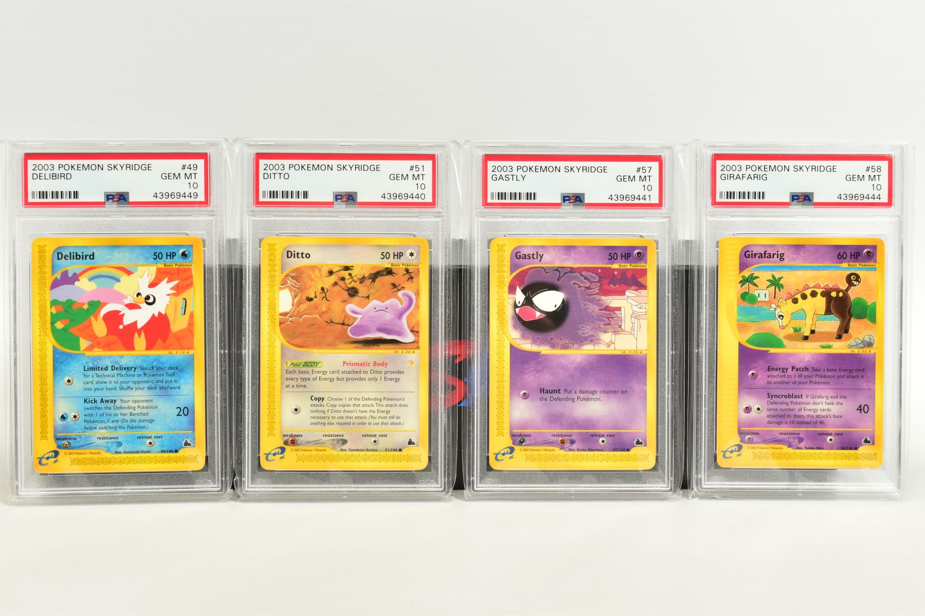 A QUANTITY OF PSA GRADED POKEMON SKYRIDGE SET CARDS, all are graded GEM MINT 10 and are sealed in - Image 3 of 9