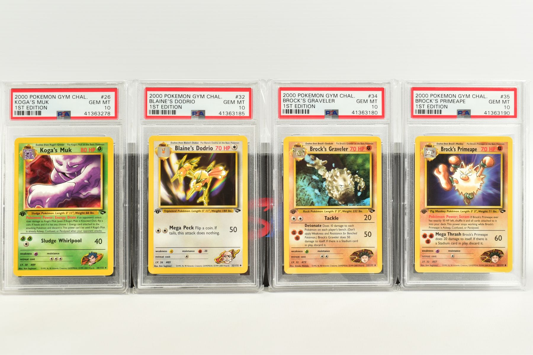 A QUANTITY OF PSA GRADED POKEMON 1ST EDITION GYM HEROES AND GYM CHALLENGE SET CARDS, all are - Image 2 of 12