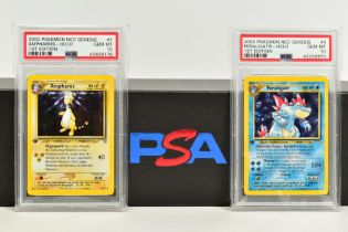 A QUANTITY OF PSA GRADED POKEMON 1ST EDITION NEO GENESIS SET CARDS, all are graded GEM MINT 10 and