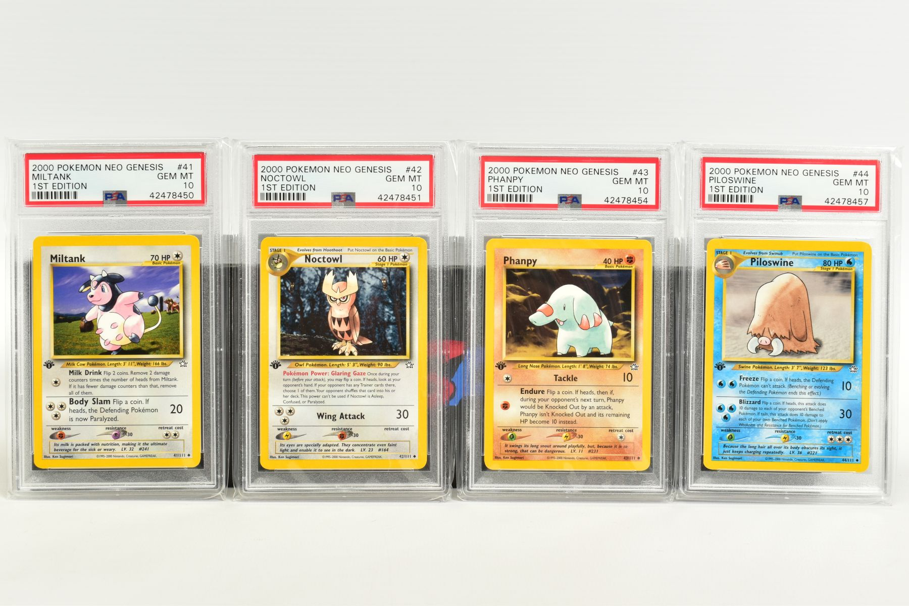 A QUANTITY OF PSA GRADED POKEMON 1ST EDITION NEO GENESIS SET CARDS, all are graded GEM MINT 10 and - Image 7 of 24