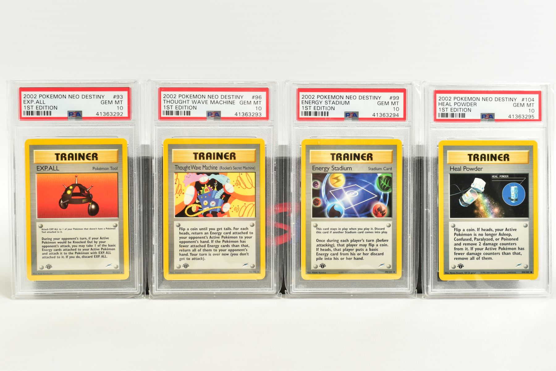 A QUANTITY OF PSA GRADED POKEMON 1ST EDITION NEO DESTINY SET CARDS, all are graded GEM MINT 10 and - Image 7 of 7