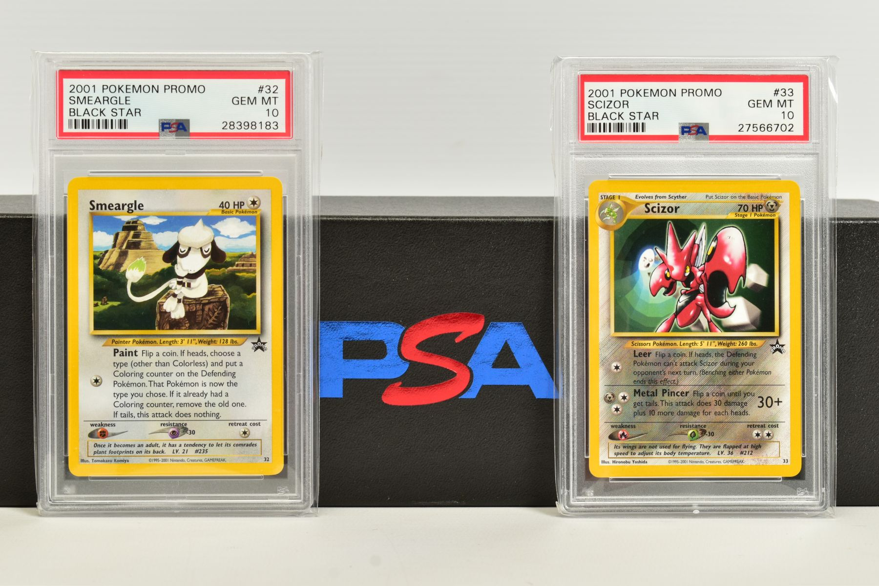 A QUANTITY OF PSA GRADED WIZARDS OF THE COAST POKEMON BLACK STAR PROMO CARDS, all date from 2000